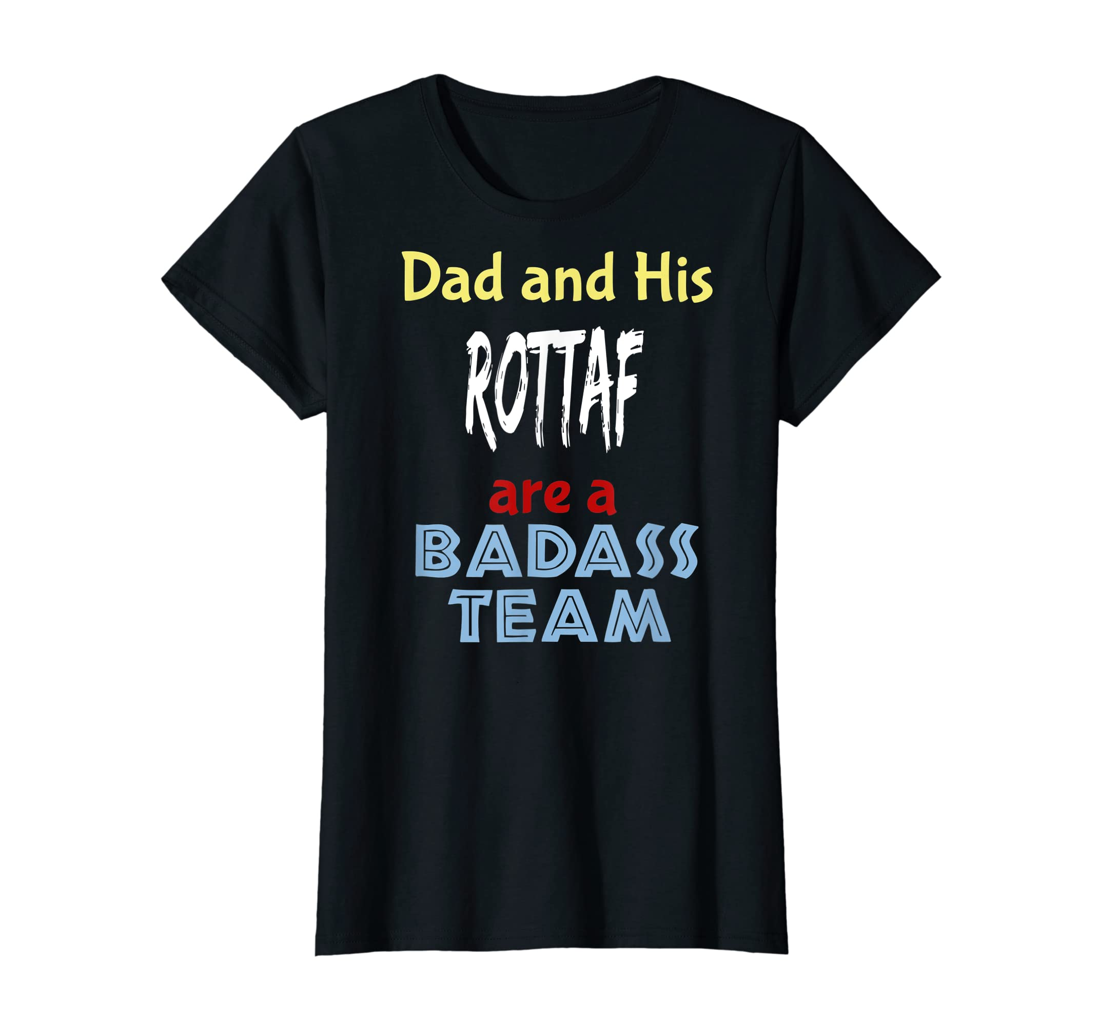 Mens Rottaf Dog Shirt Love Rottweiler + Afghan Hound =  T-Shirt-Women's T-Shirt-Black