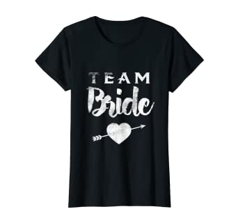 055f1197 Image Unavailable. Image not available for. Color: Womens Team Bride Squad  T shirt Tee Bachelorette Party Wedding