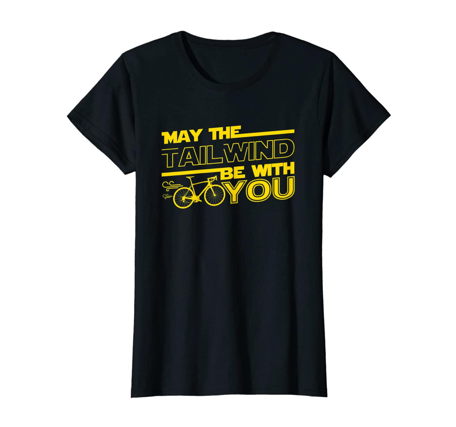 May the Tailwind Be with You Road Mountain Cycling T-Shirt-Loveshirt
