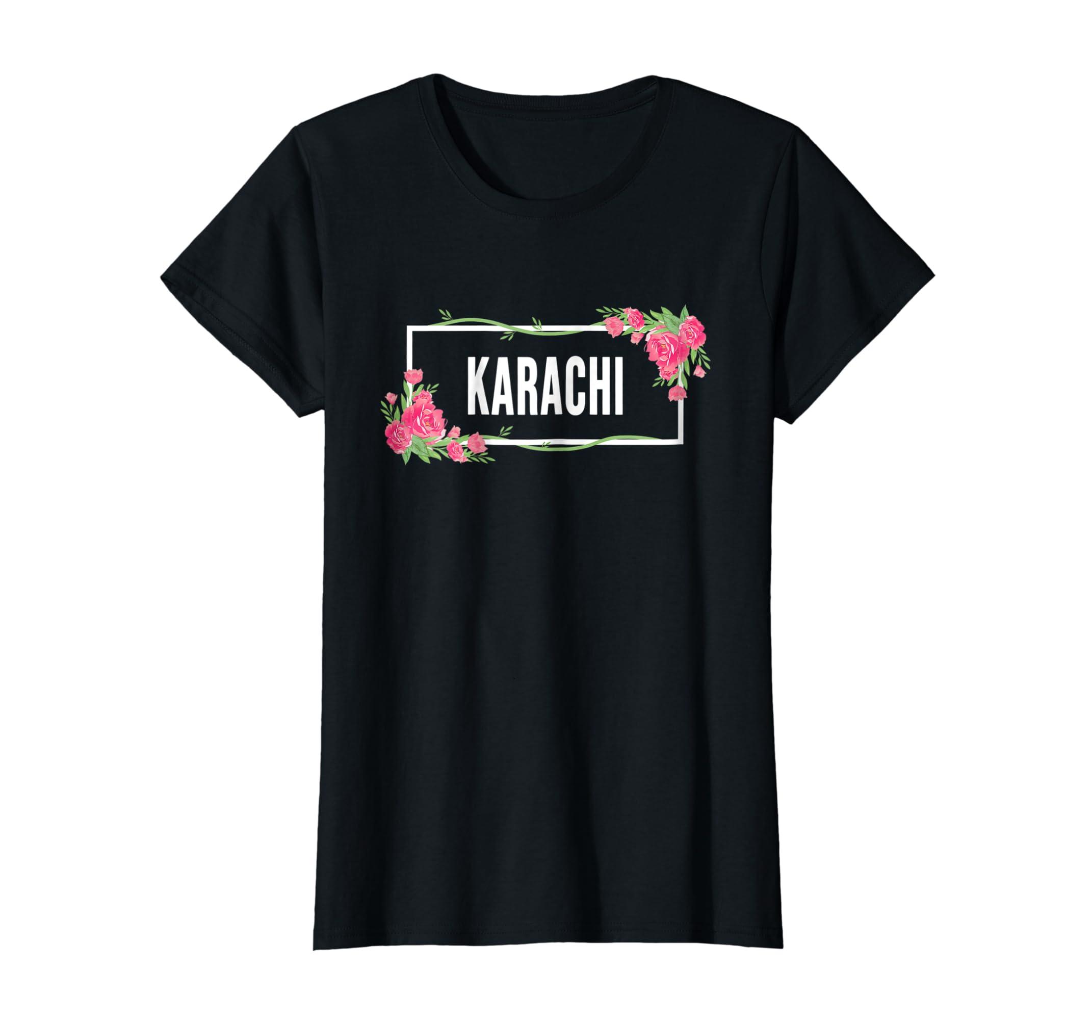 Amazoncom Karachi Pakistan T Shirt Floral Hibiscus Flower Clothing