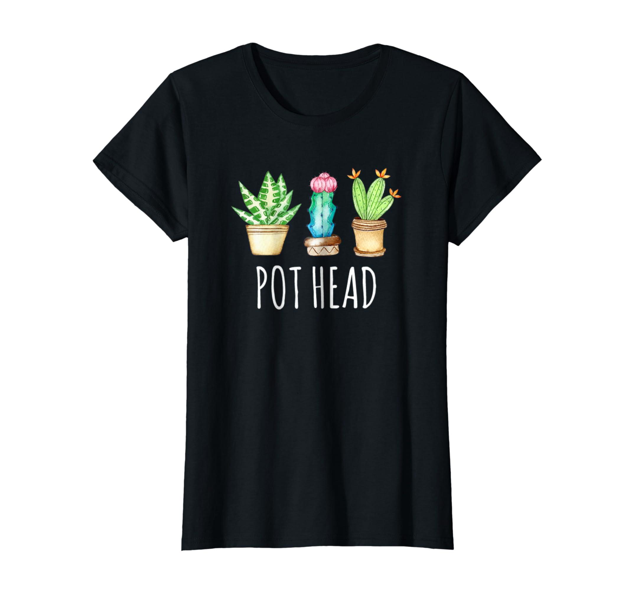 Womens Succulent Shirt Pot Head Funny Cactus Cacti Succulove Tee-azvn