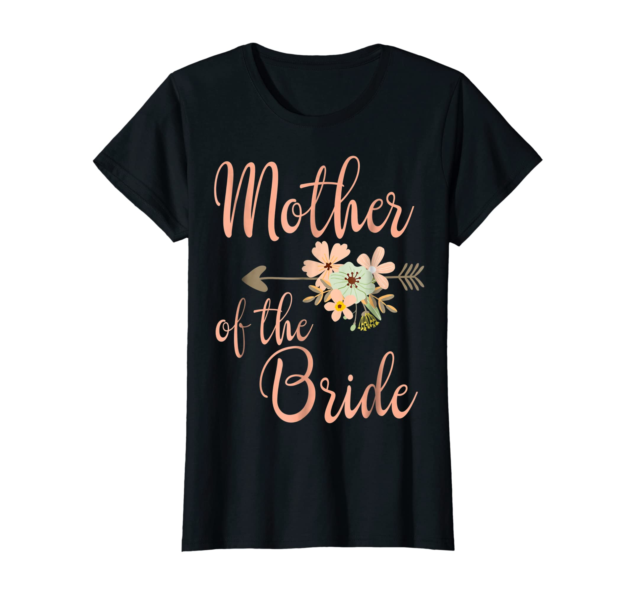 Mother of the Bride T-Shirt - Wedding Party Shirt-Women's T-Shirt-Black