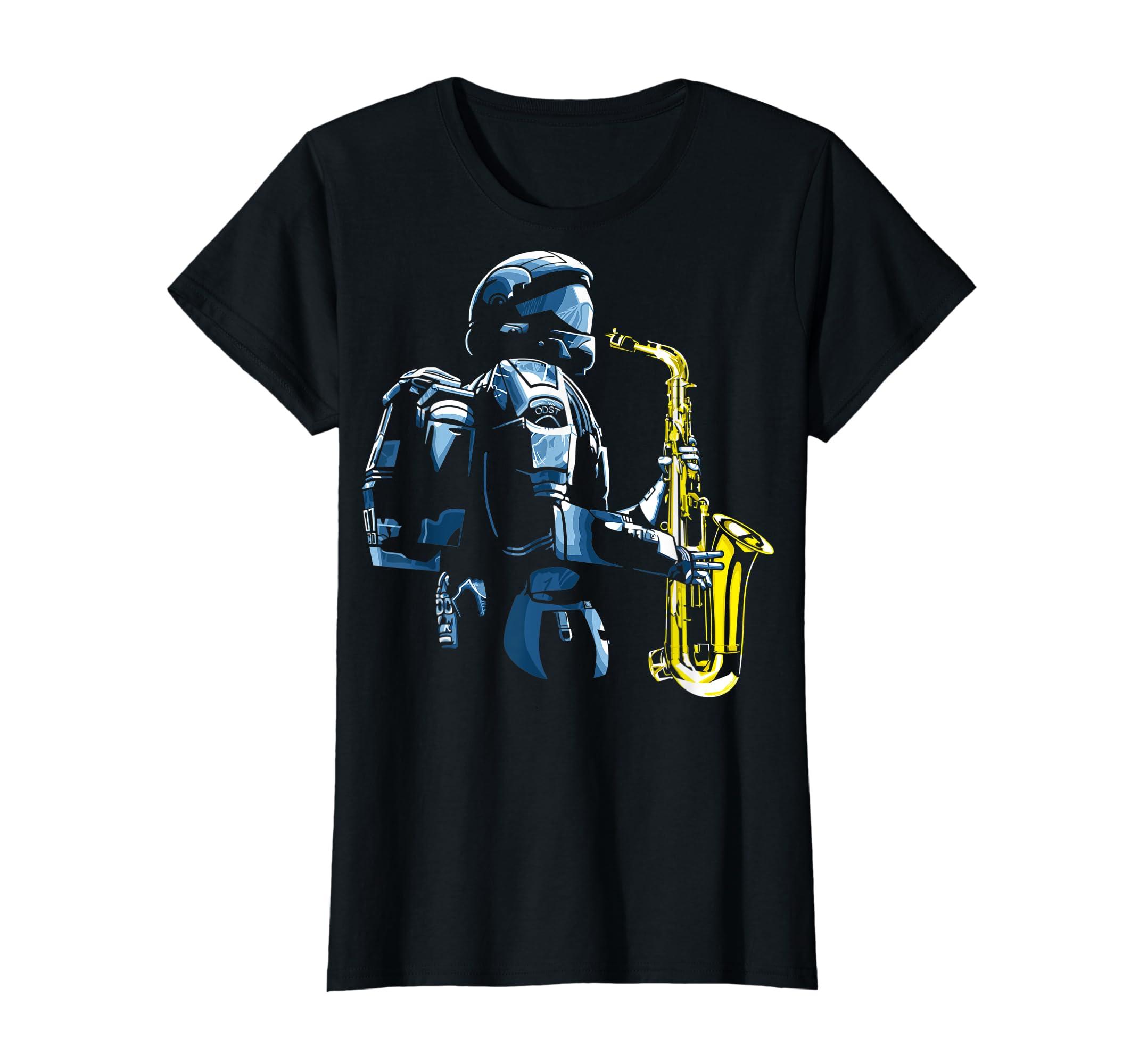 Halo ODST Jazz T-Shirt-Women's T-Shirt-Black
