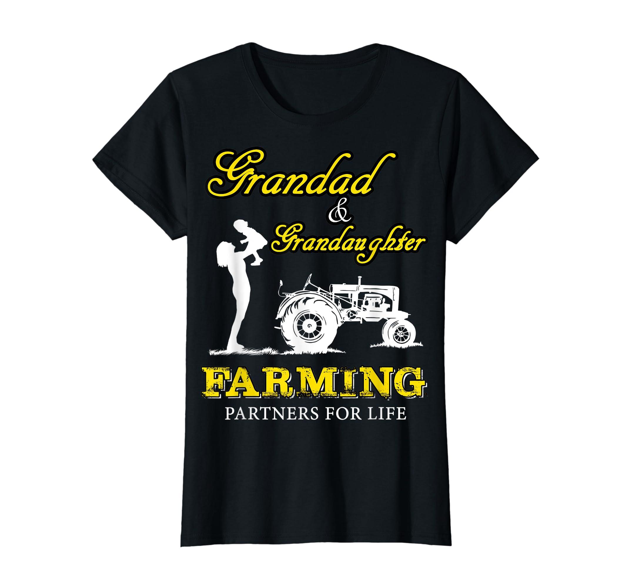 Grandad and Grandaughter Farming Partner For Life Shirt T-Shirt-Women's T-Shirt-Black