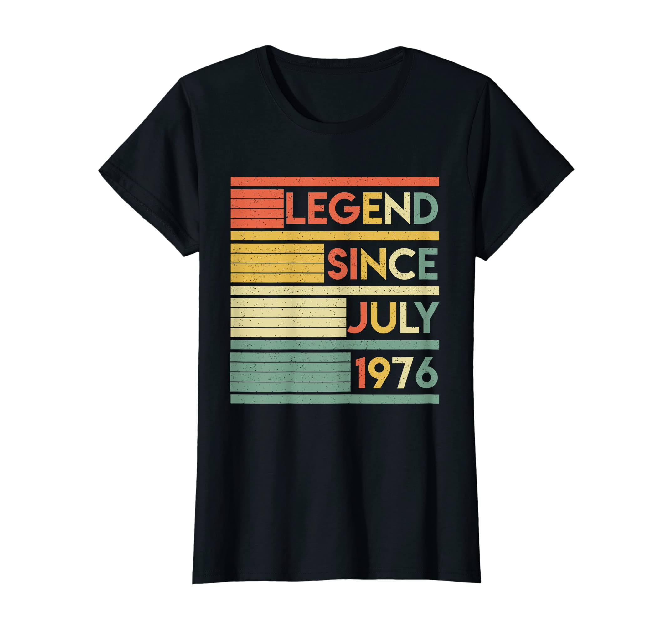 Vintage 43rd Birthday Gifts Legend Since July 1976 Shirt-Teehay