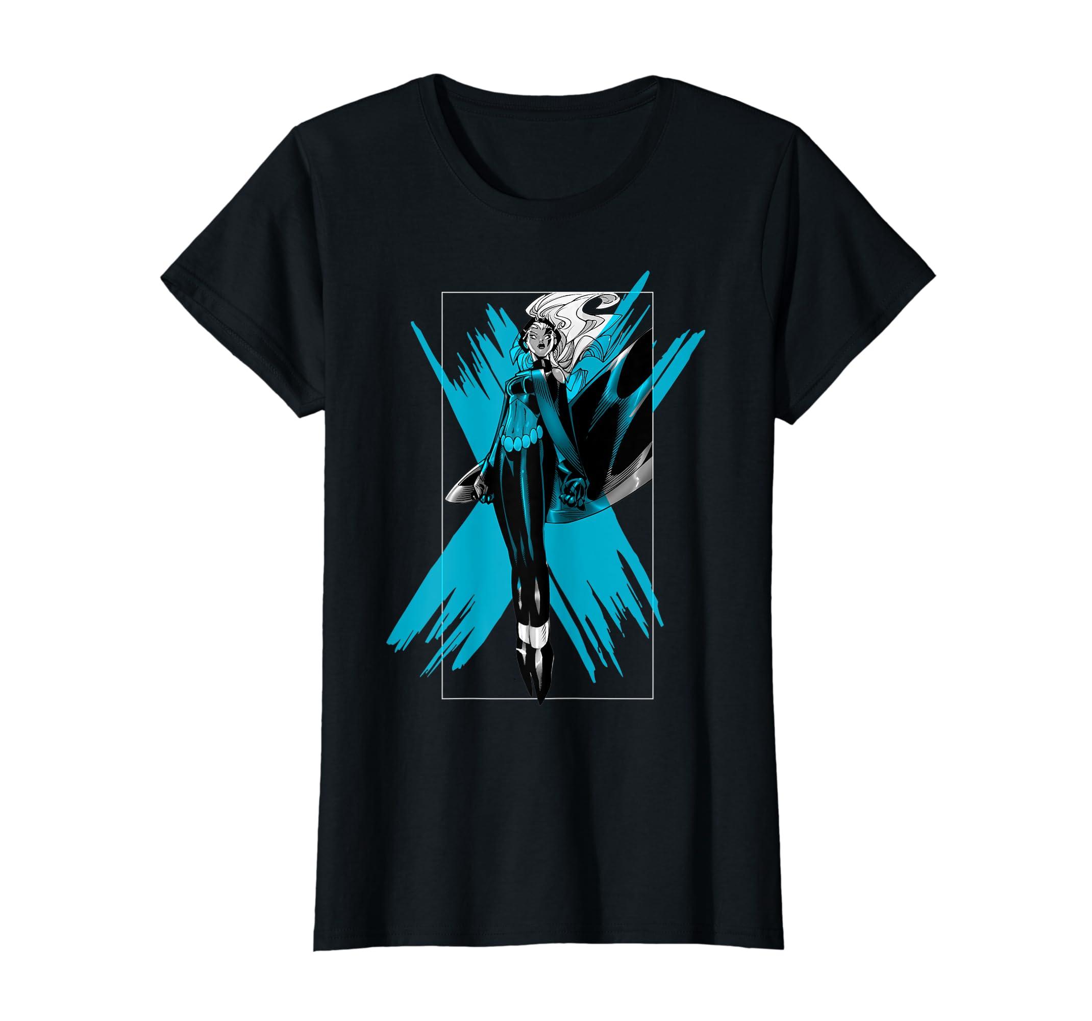 c61dff57c Amazon.com: Marvel X-Men Storm Color Pop Box Graphic T-Shirt: Clothing