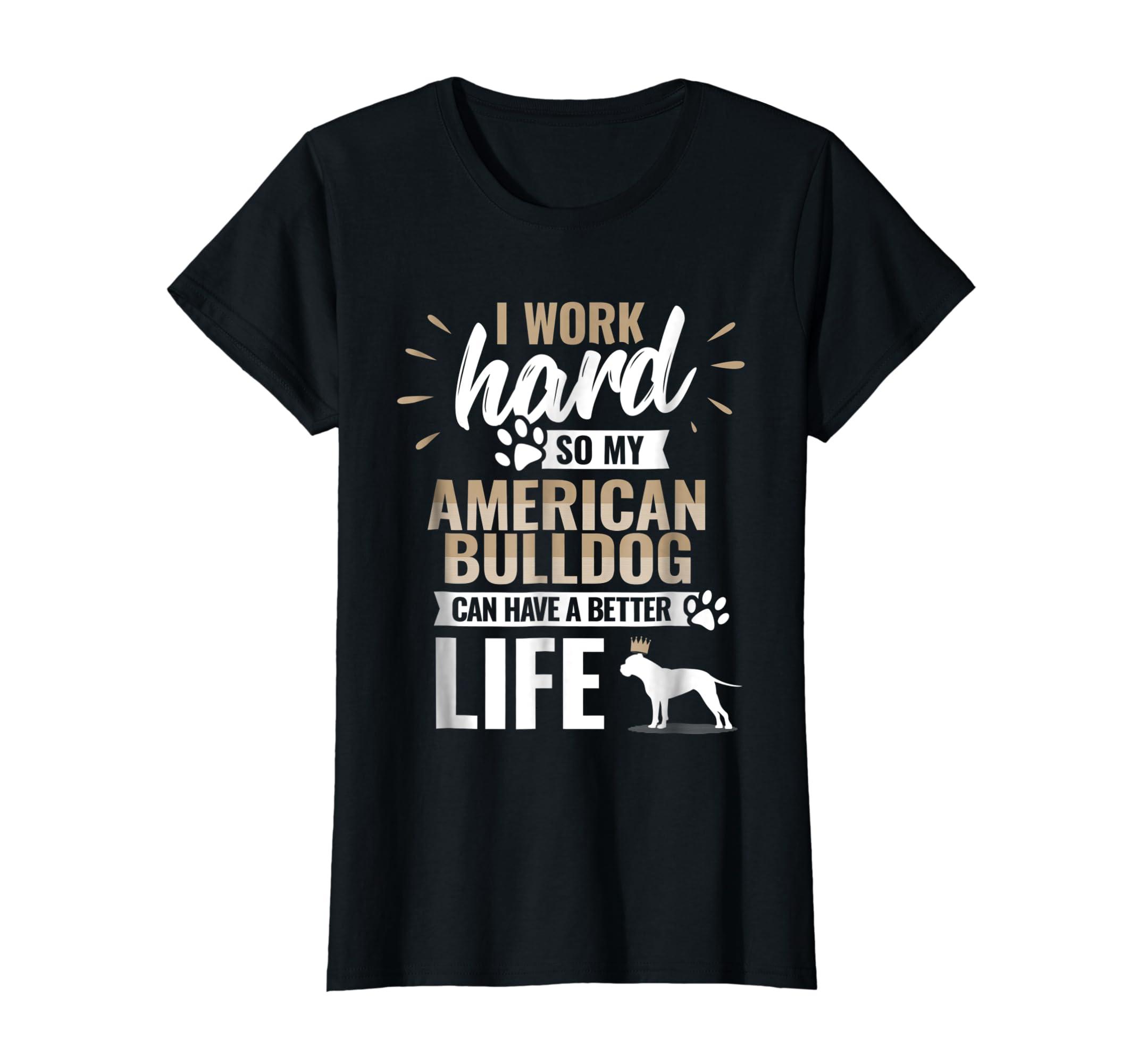 Cool Dog T-Shirt American Bulldog Owner Gift-Women's T-Shirt-Black