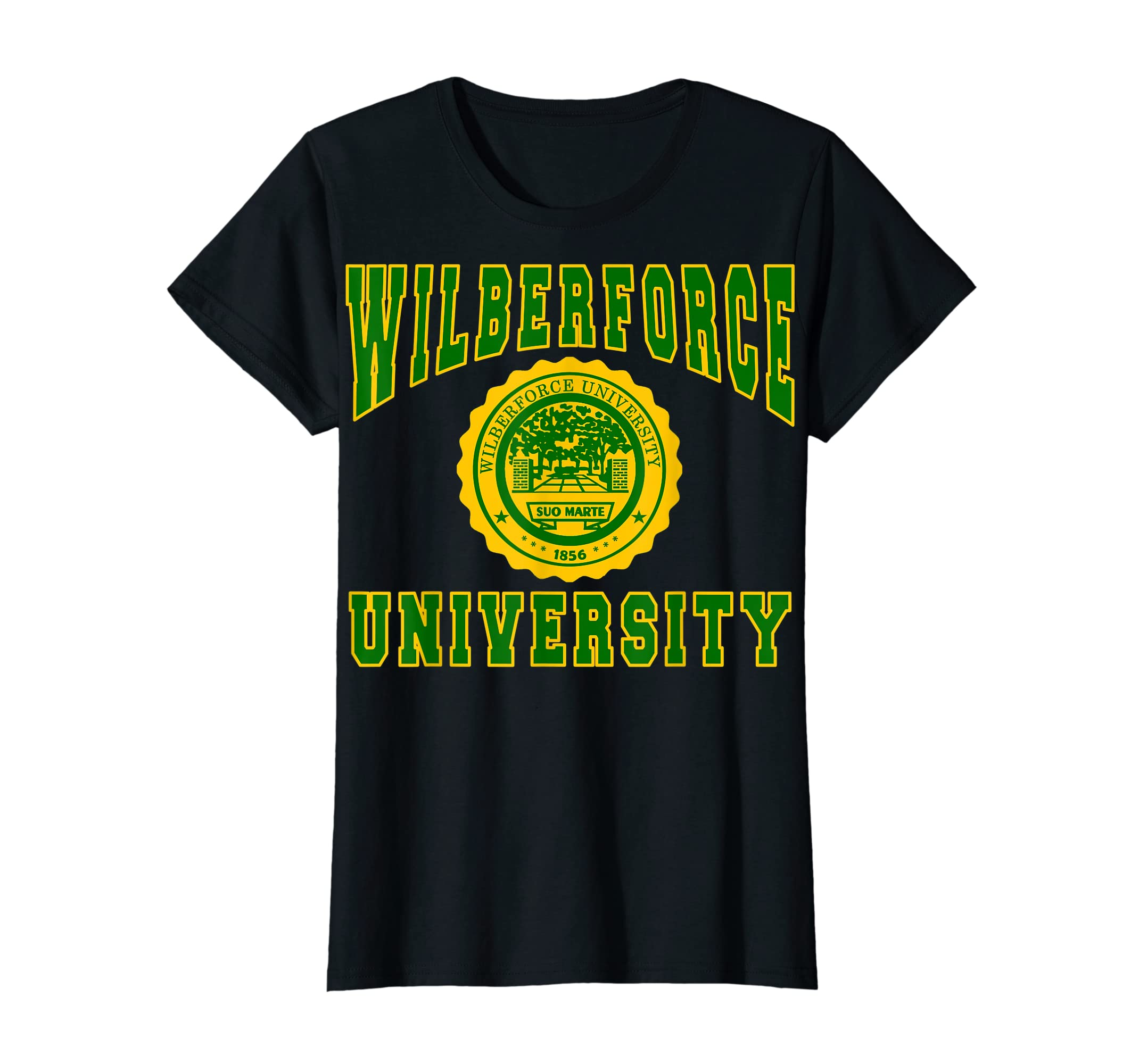 Wilberforce 1856 University Apparel - T shirt-Women's T-Shirt-Black