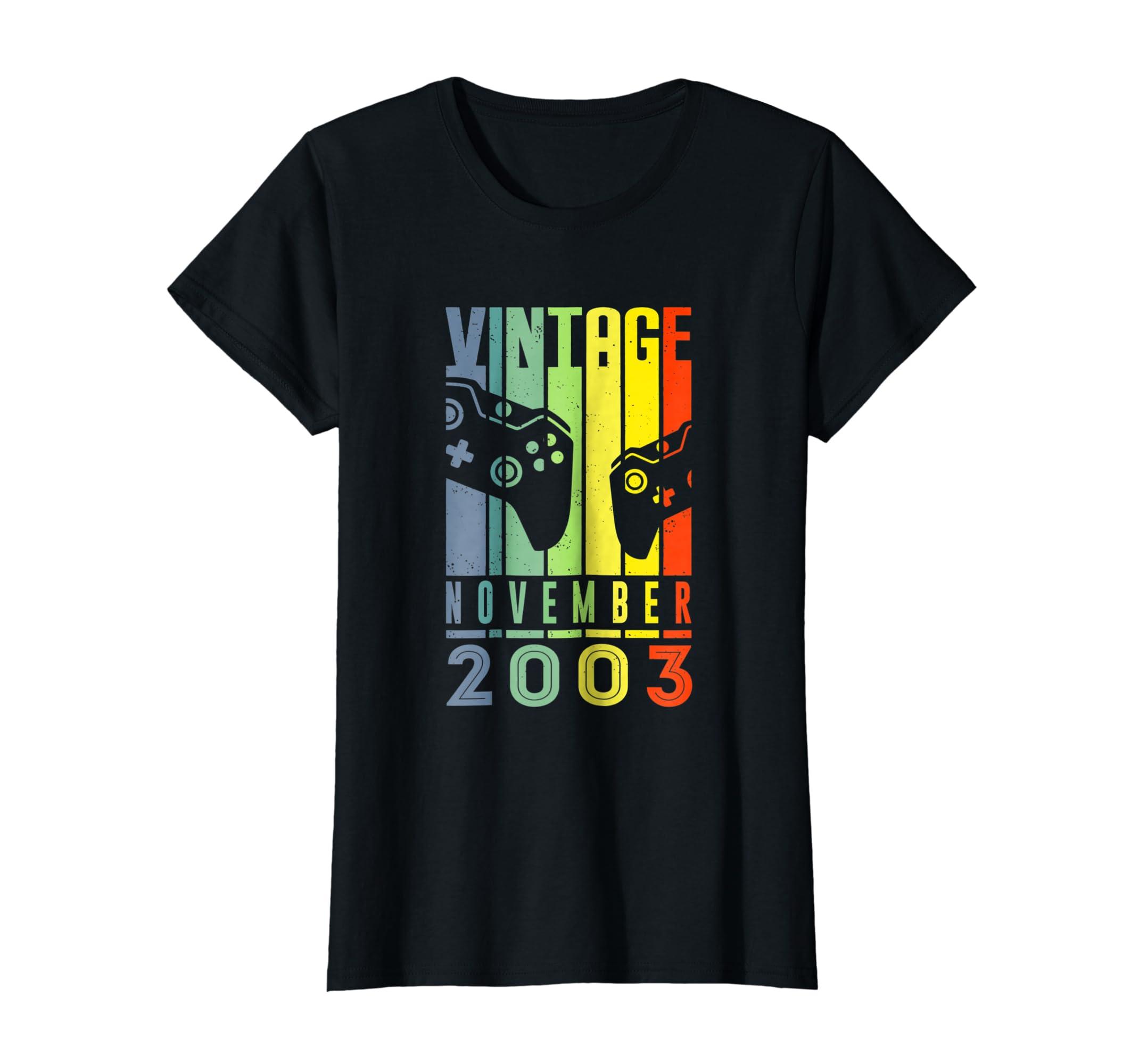 Amazon November 2003 T Shirt Funny Video Gamer 15th Birthday Gift Clothing