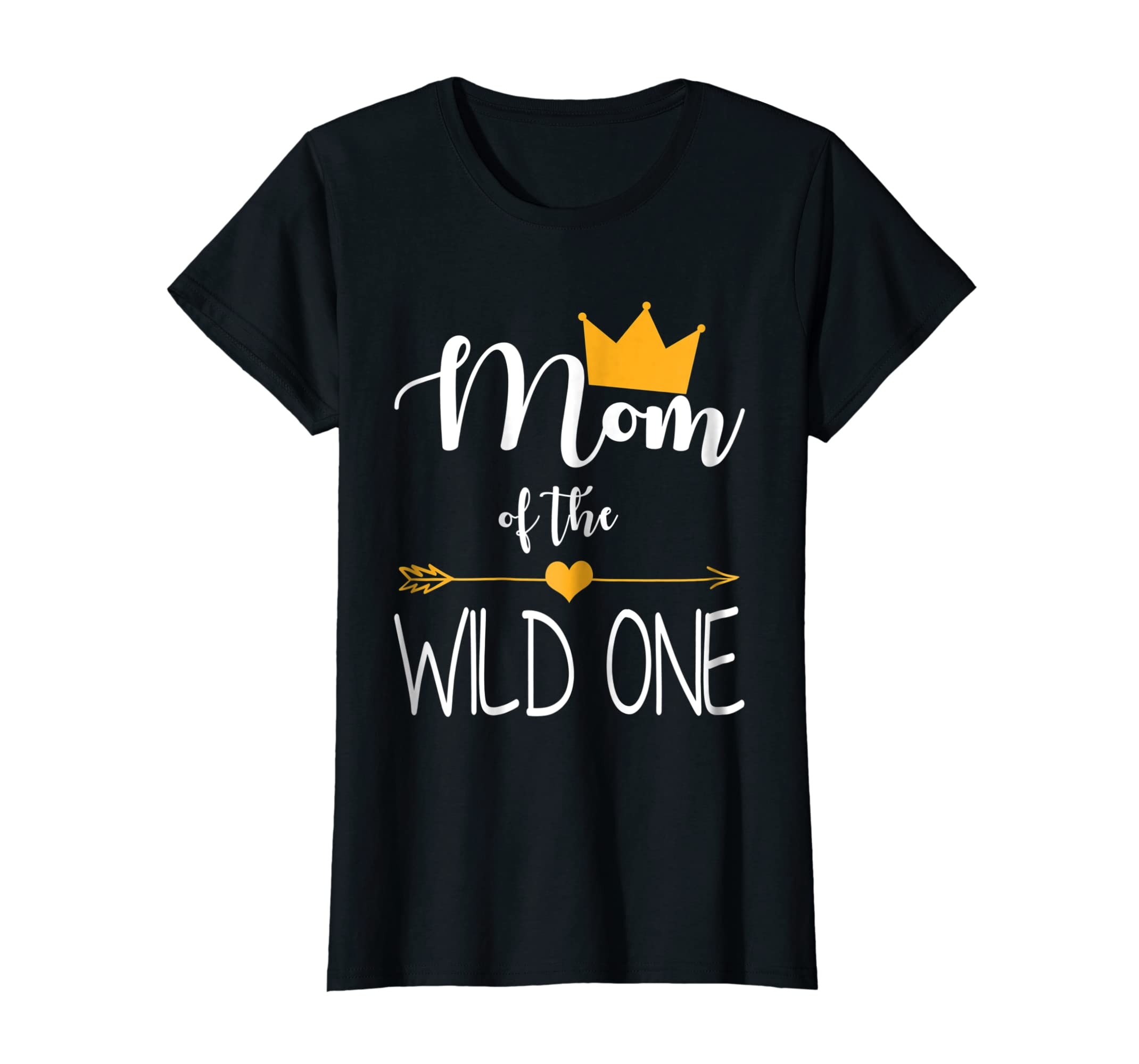 41cd695c Amazon.com: Mom of the Wild One baby first birthday funny gift shirt:  Clothing