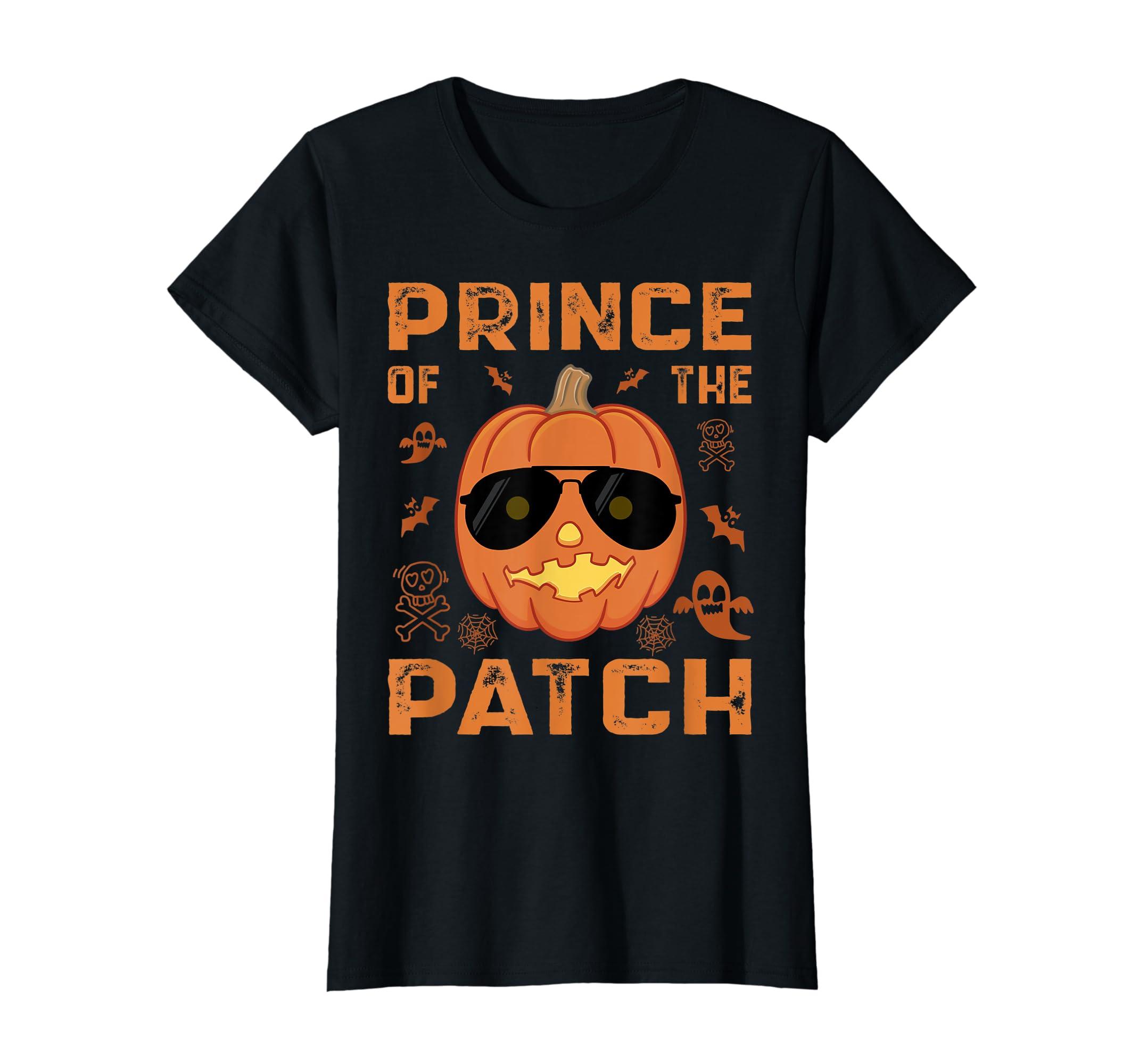 Pumpkin Prince of the Patch Group Family Halloween Costume T-Shirt-Women's T-Shirt-Black