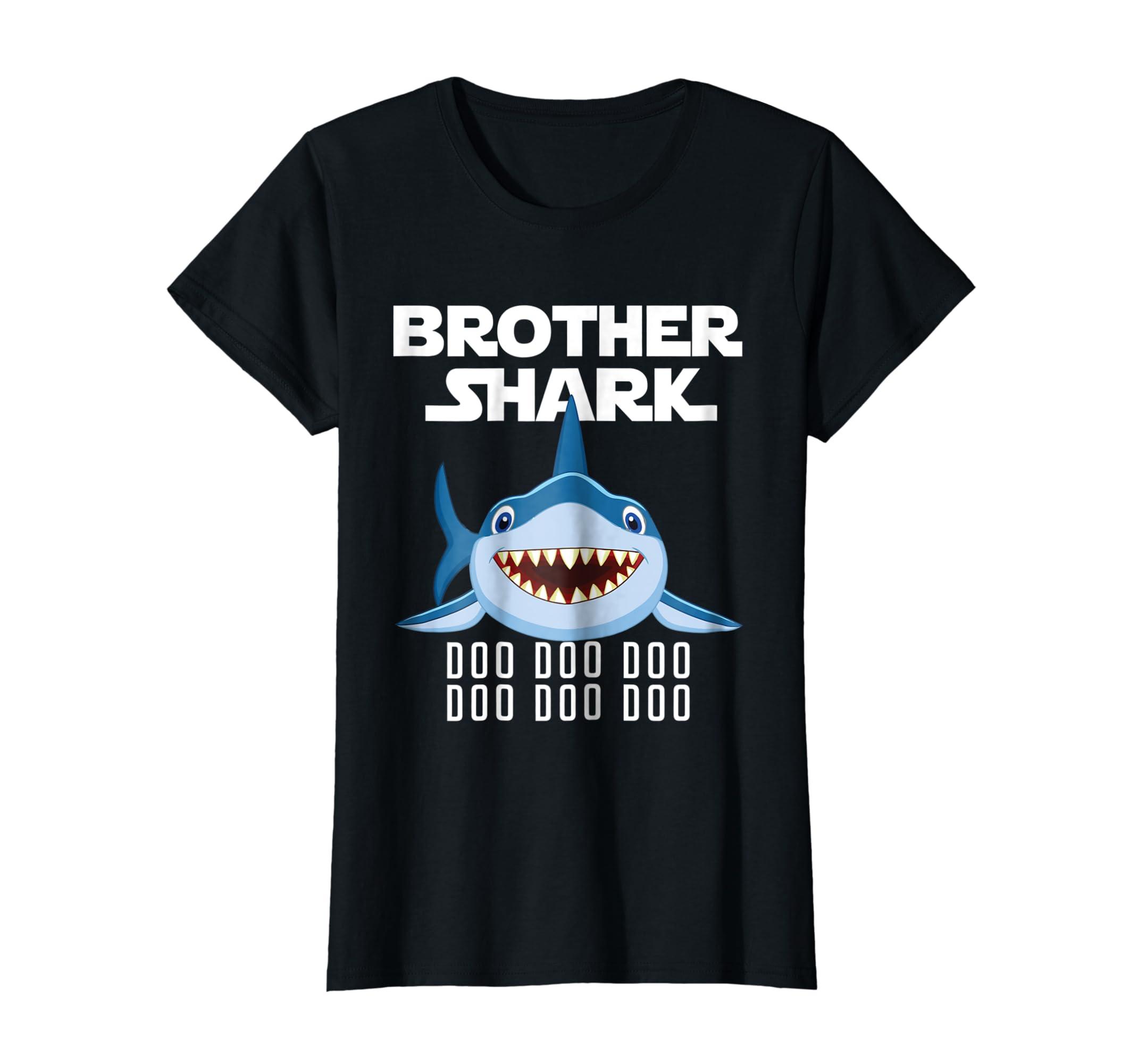 Brother Shark T-shirt Doo Doo Doo – Father's Day Gift Tee-Newstyleth
