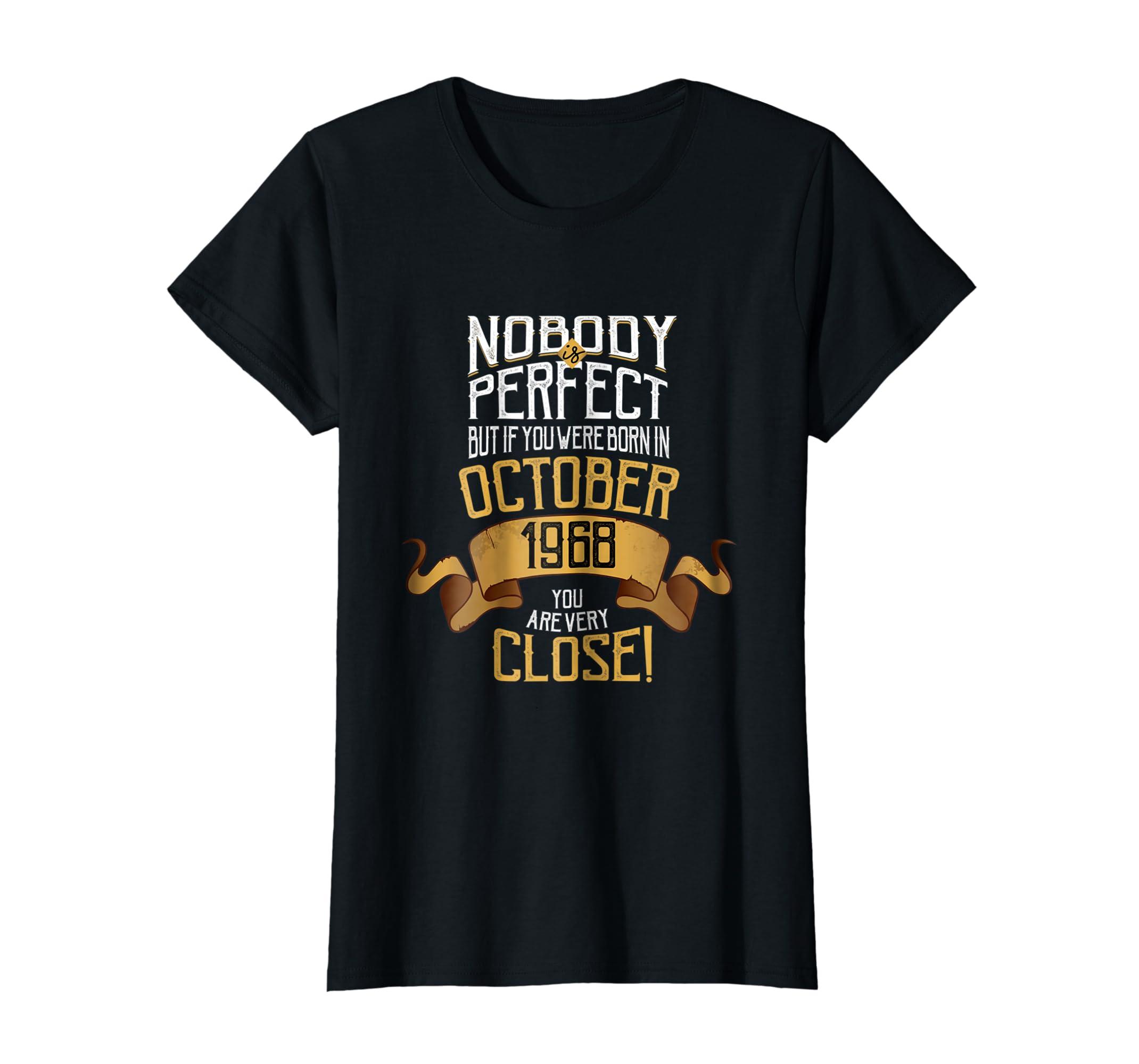 Amazon 1968 October Birthday T Shirt