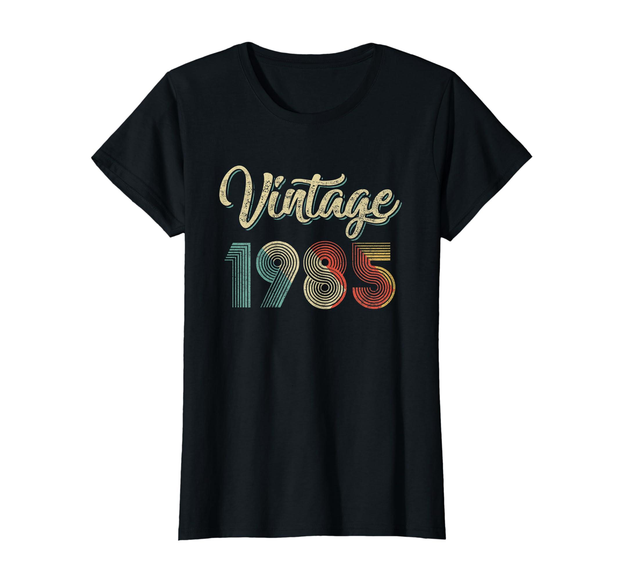 19c25f6d4008f Amazon.com: Vintage Retro 1985 34th years old Classic Birthday T ...