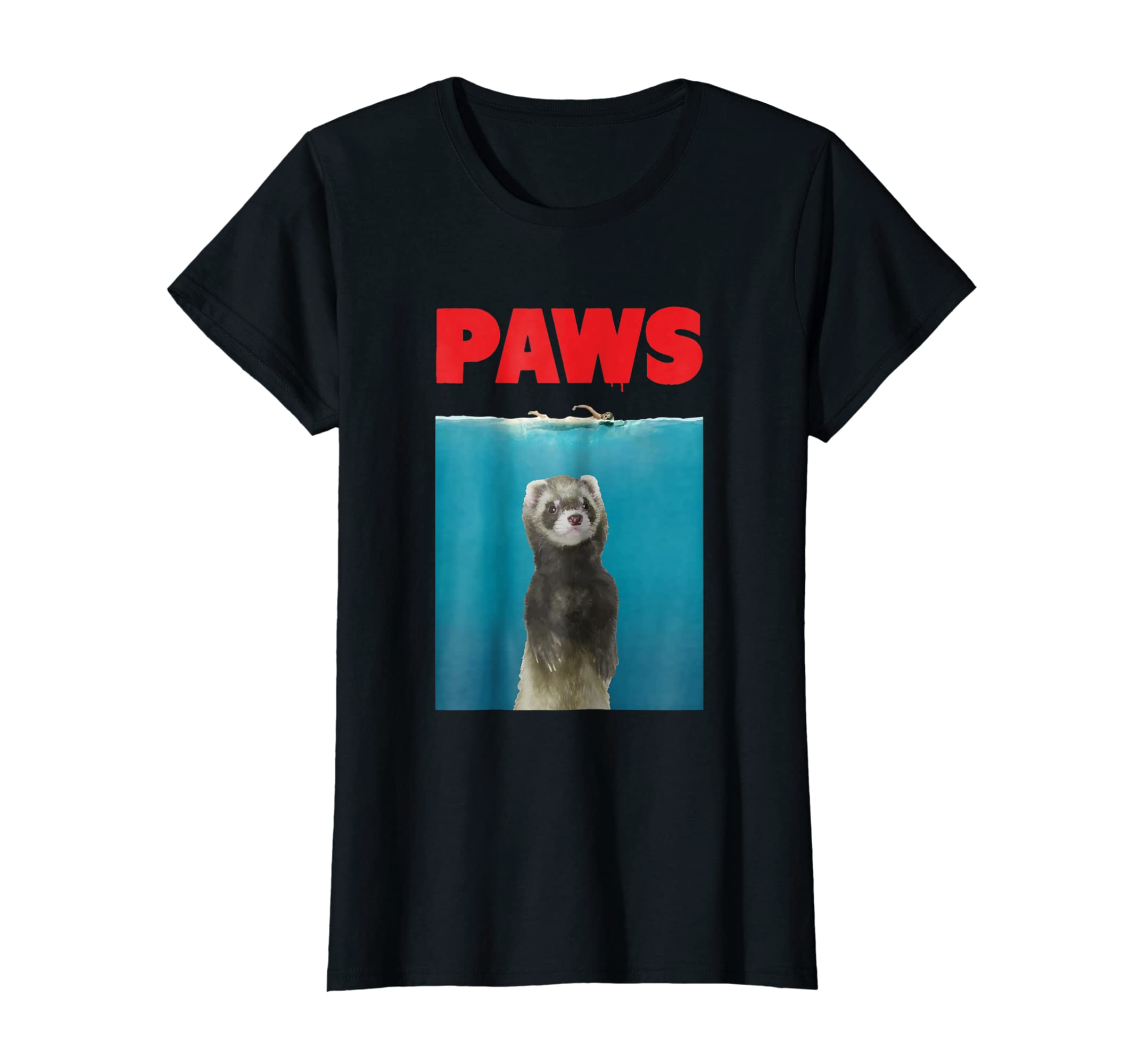 177f81040 Amazon.com: Paws Ferret Funny T-Shirt Parody | Ferret Lover Gifts: Clothing