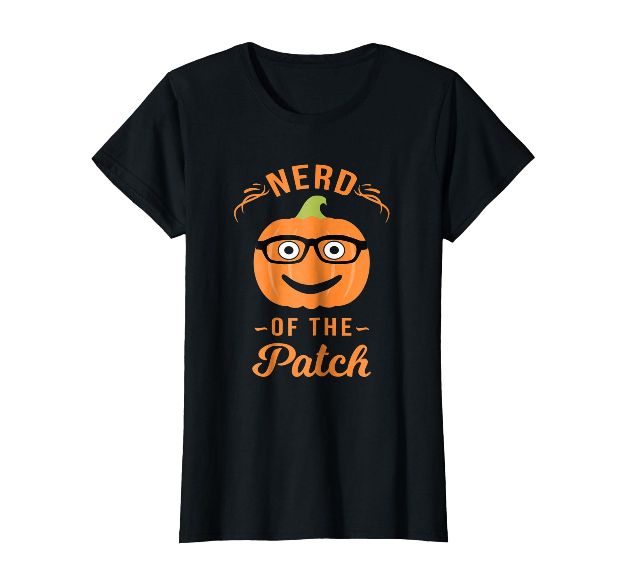 Nerd of The Patch Pumpkin Halloween T Shirt