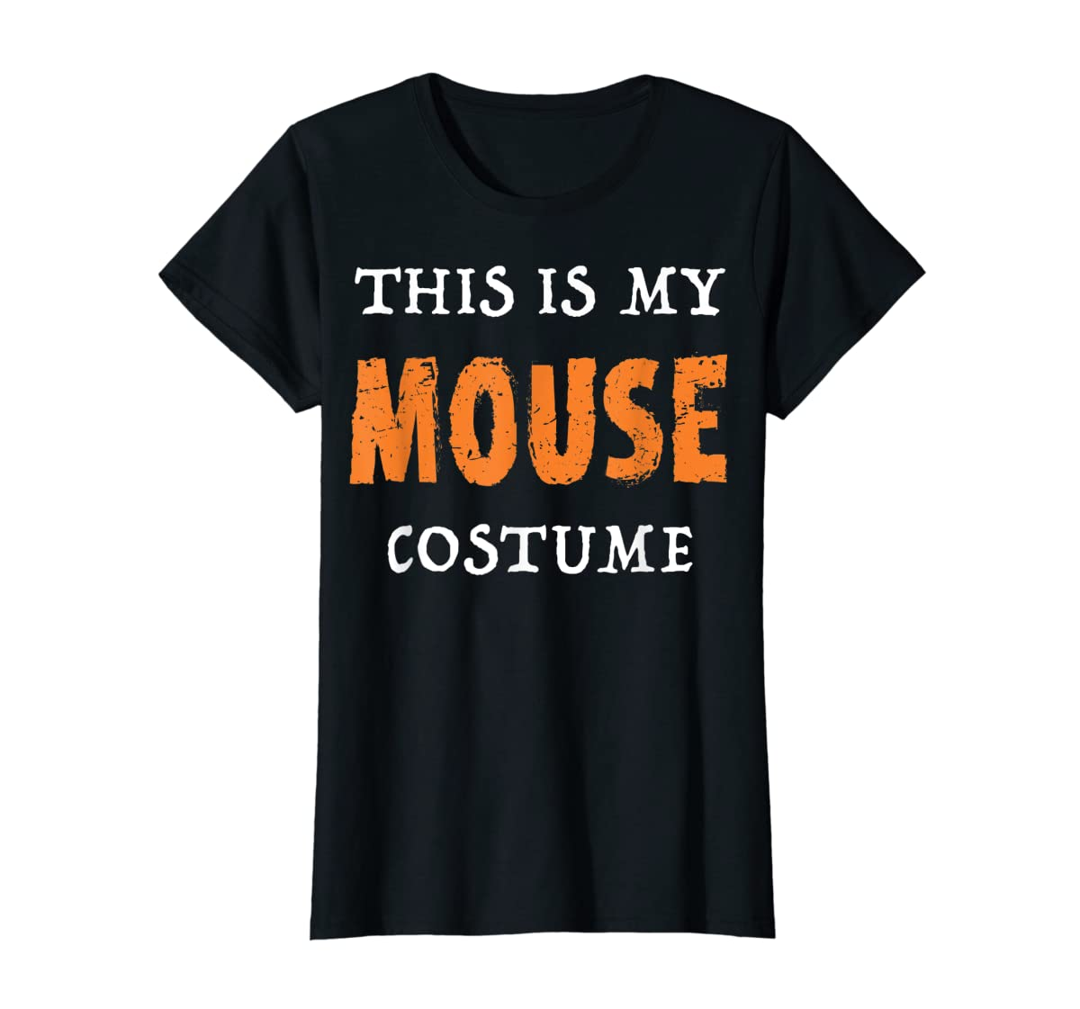 Funny This Is My Mouse Costume Halloween  T-Shirt-Women's T-Shirt-Black
