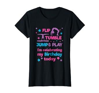 f8b555ae6 Amazon.com  Girl s Gymnastics Birthday Party T Shirt  Clothing