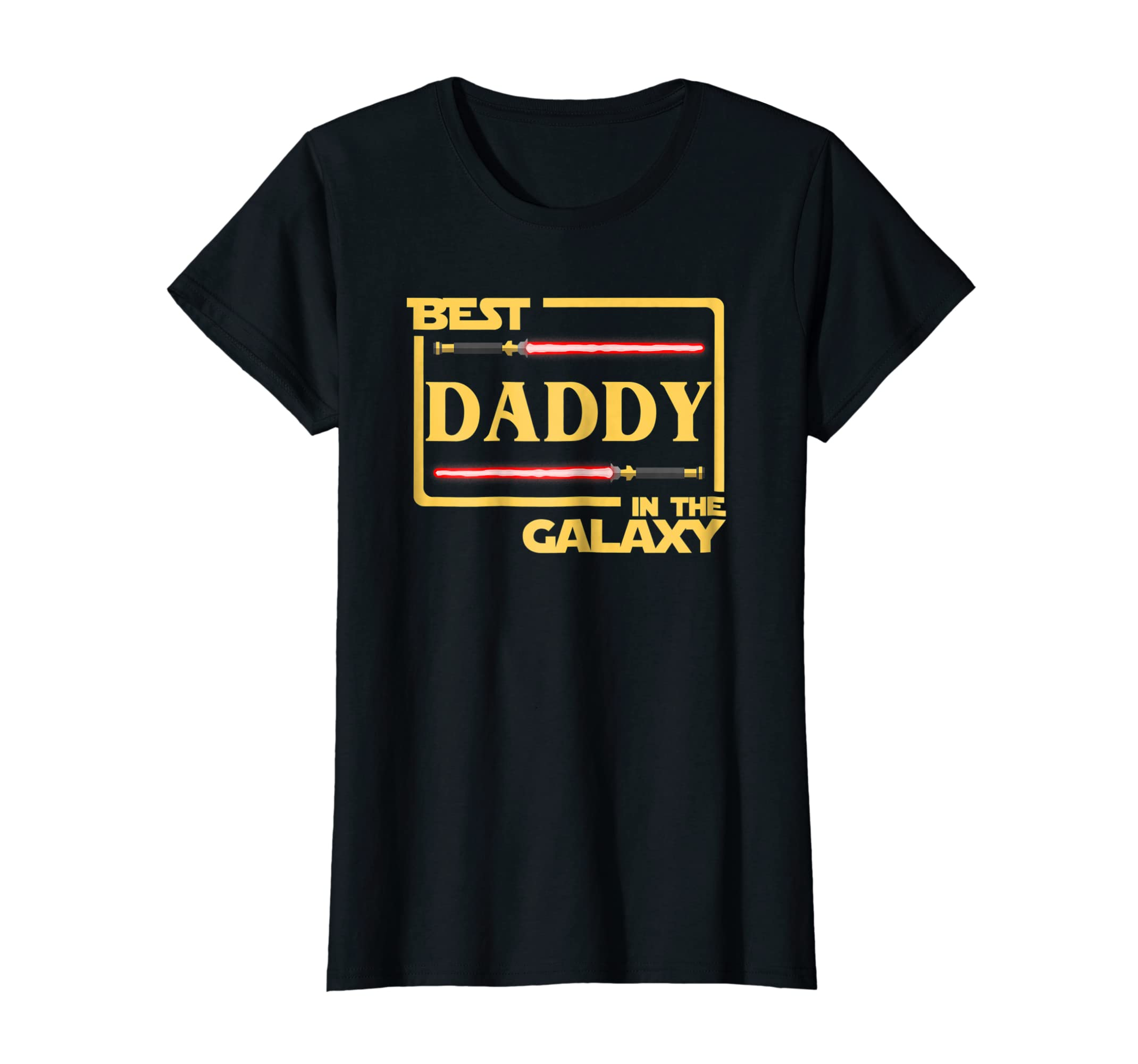 e45290465 Amazon.com: Mens Best Daddy In The Galaxy Father's Day T-Shirt: Clothing