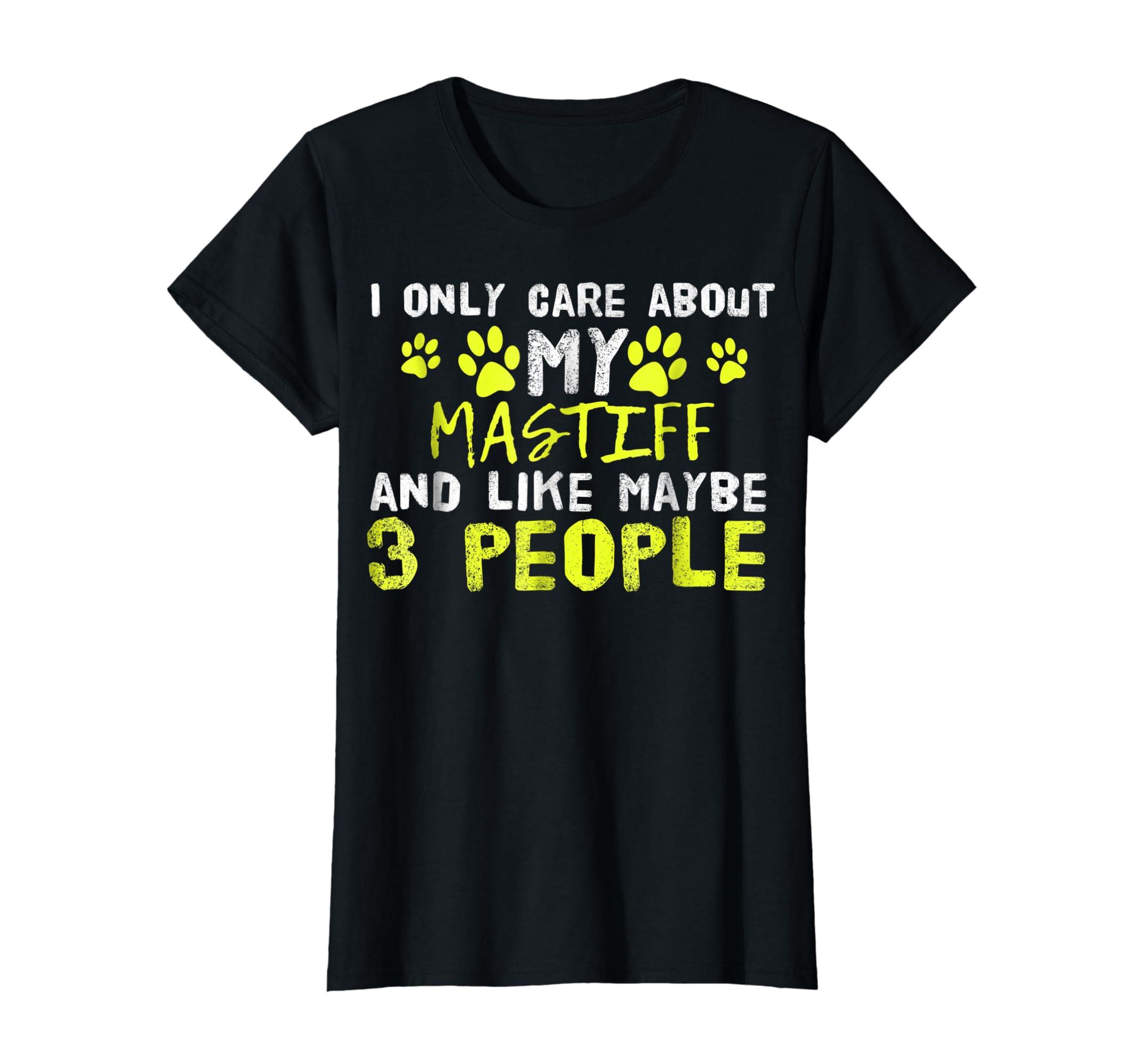 Mastiff Dog Shirt Introvert Love My Dog Tee-Women's T-Shirt-Black