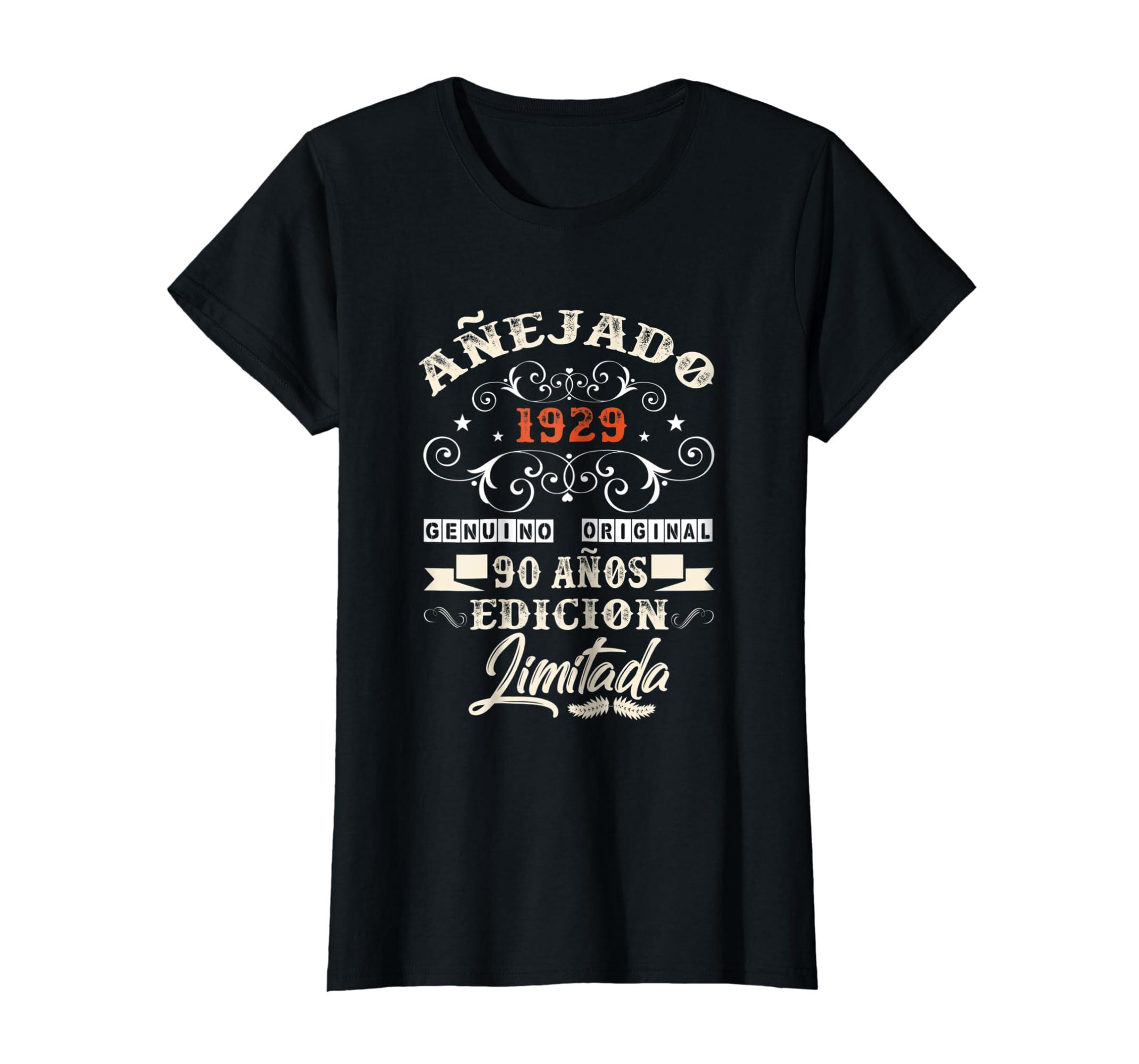 Amazon.com: Camiseta Cumpleanos 90 T-Shirt 1929 90 Anos ...