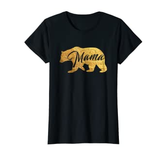 5872b2b1bce Image Unavailable. Image not available for. Color  Womens Mama Bear Shirt  Gold Mother s Day ...