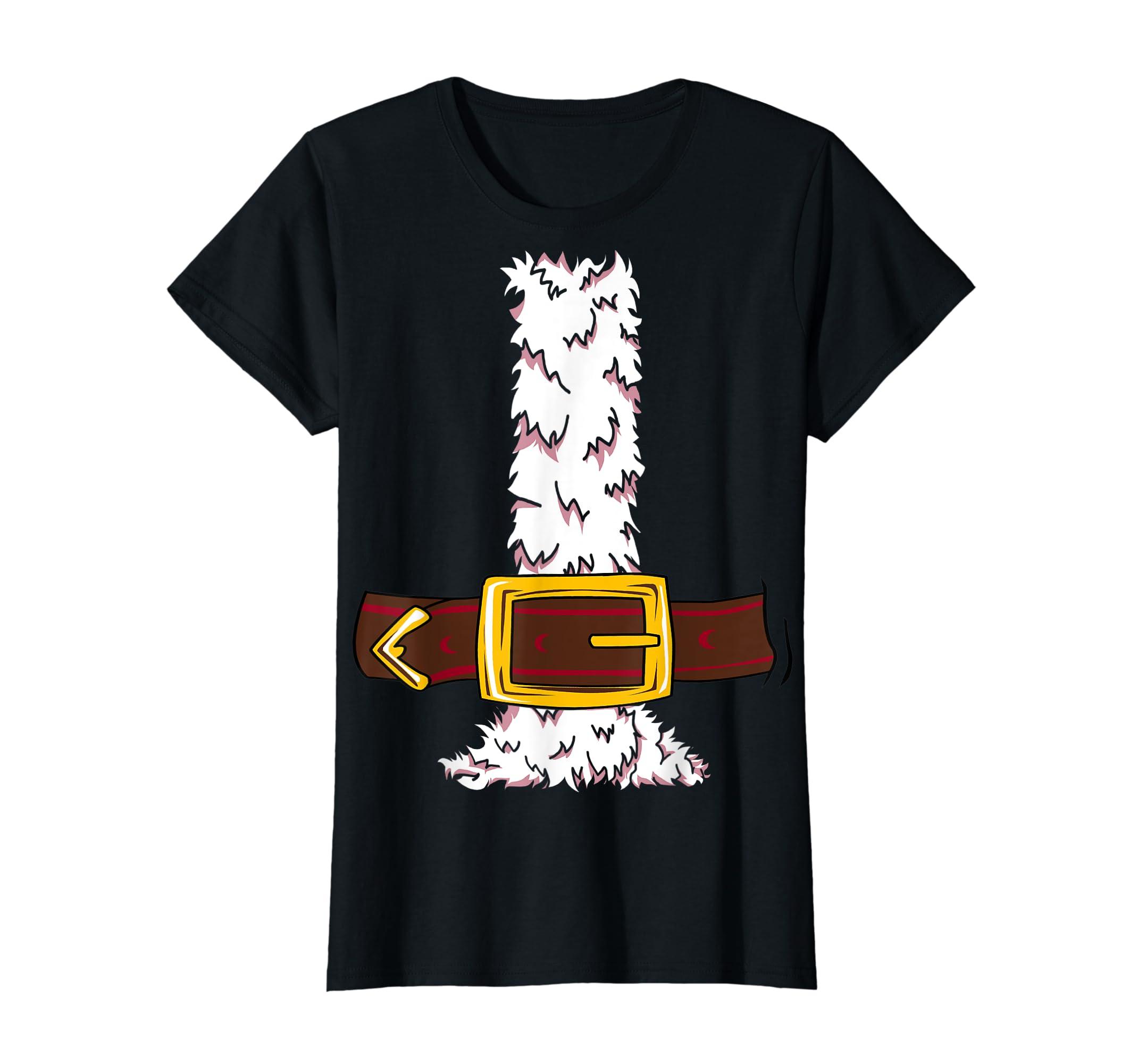 Funny Christmas gift for boys girls men women Santa costume T-Shirt-Women's T-Shirt-Black