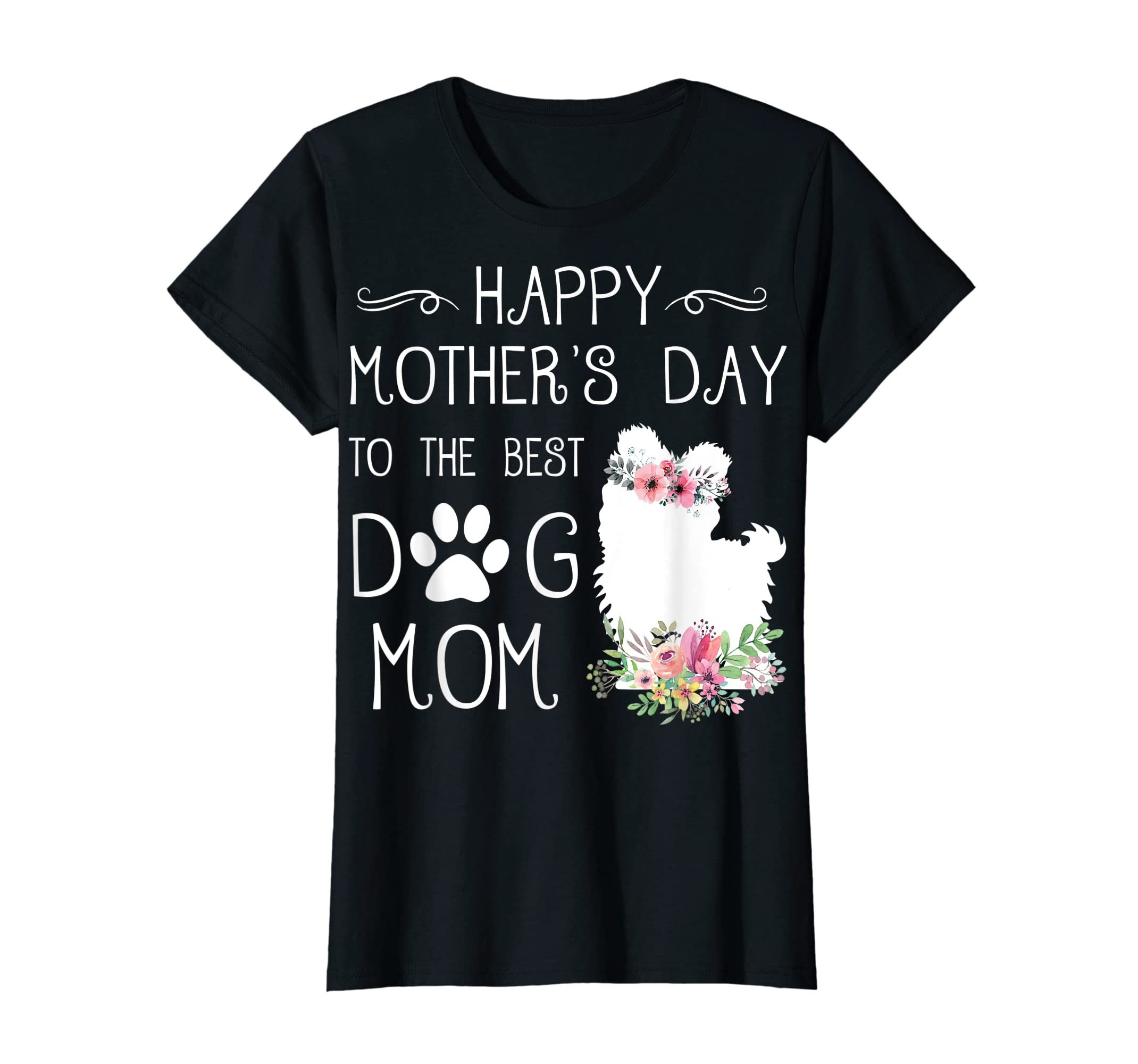 Happy Mother's Day To The Best Maltese Mom T-Shirt Gifts-Women's T-Shirt-Black