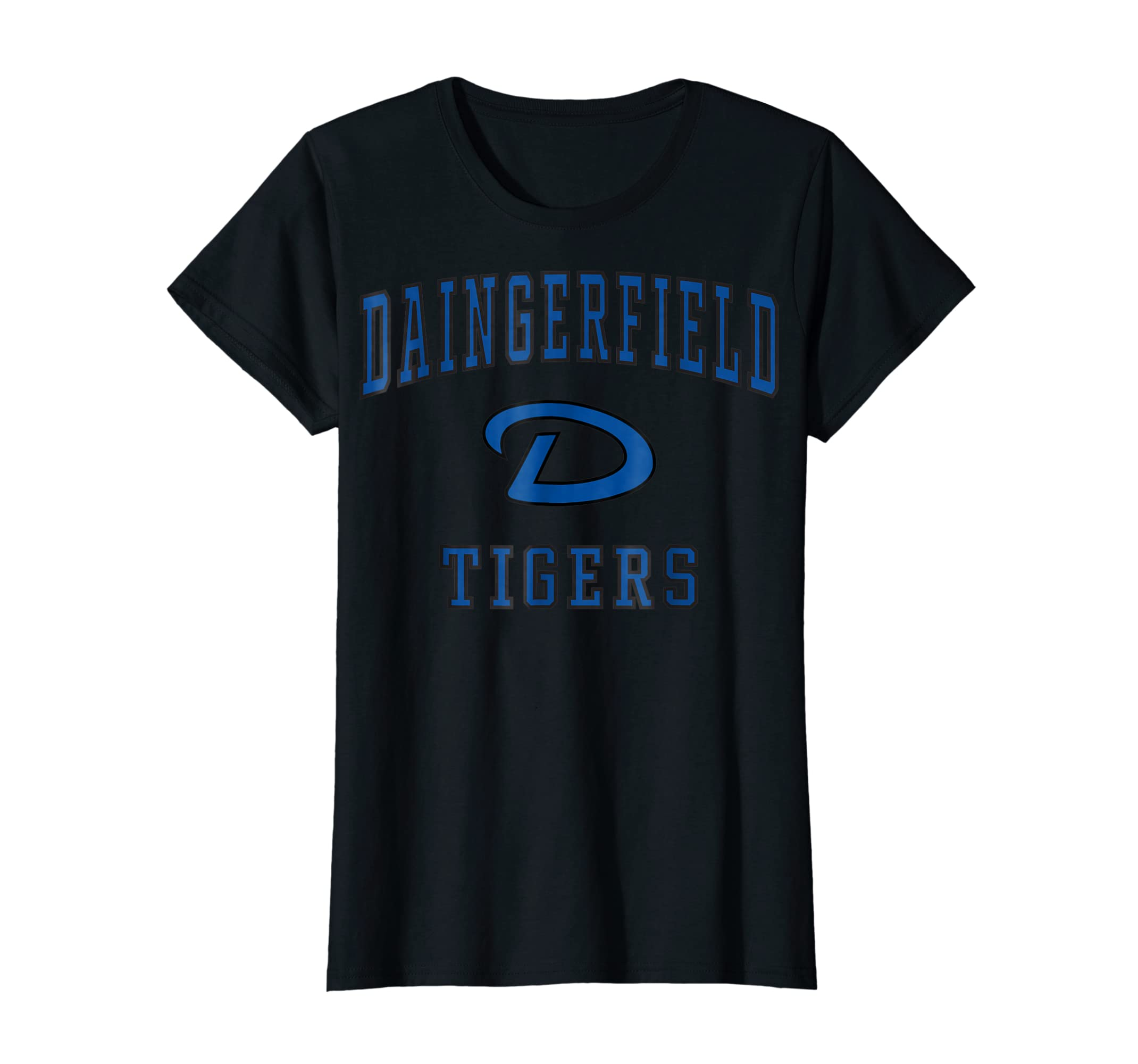 Daingerfield High School Tigers T-Shirt C1-Women's T-Shirt-Black
