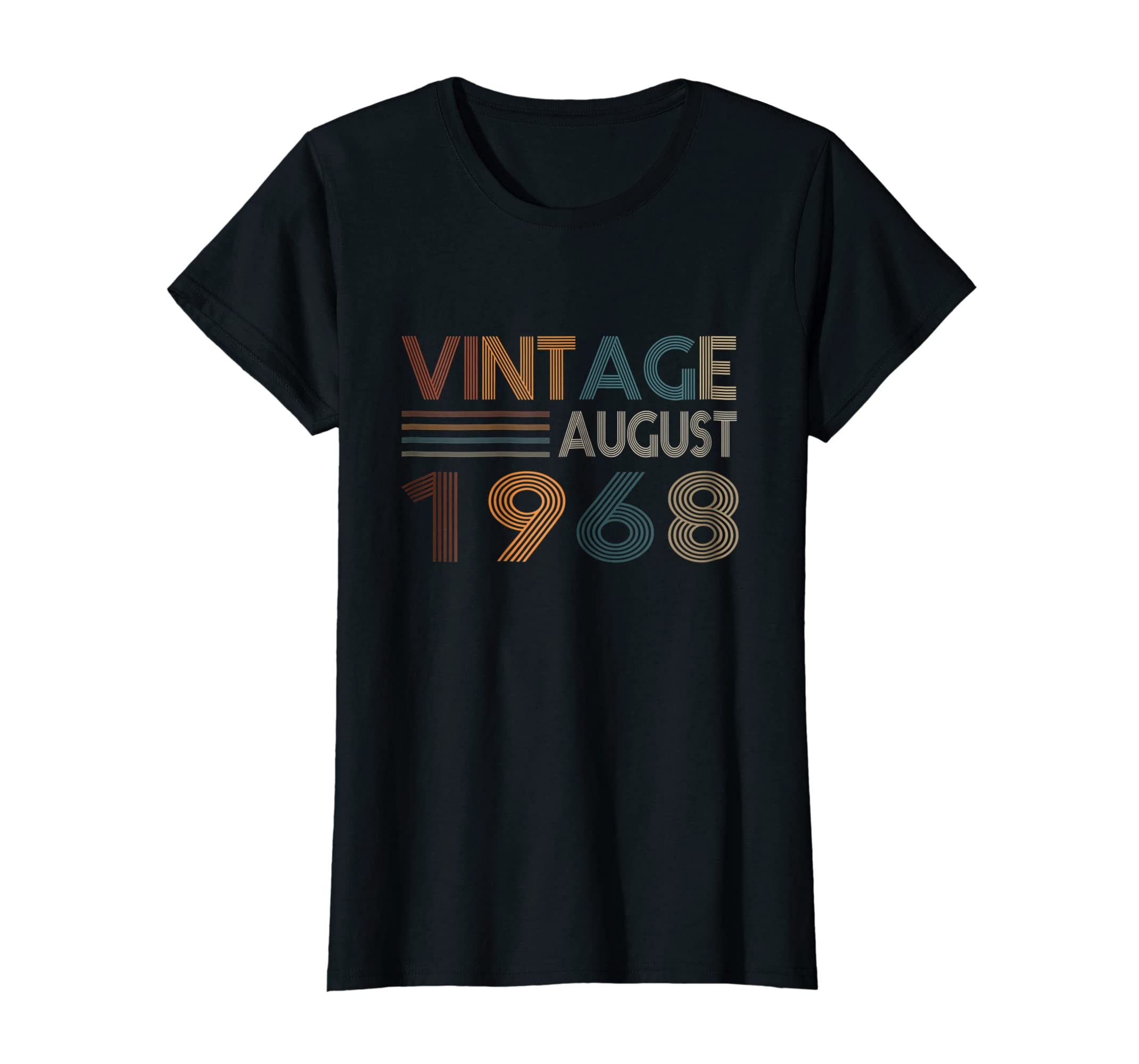Retro Vintage August 1968 Shirt 50th Birthday 50 Yrs Old