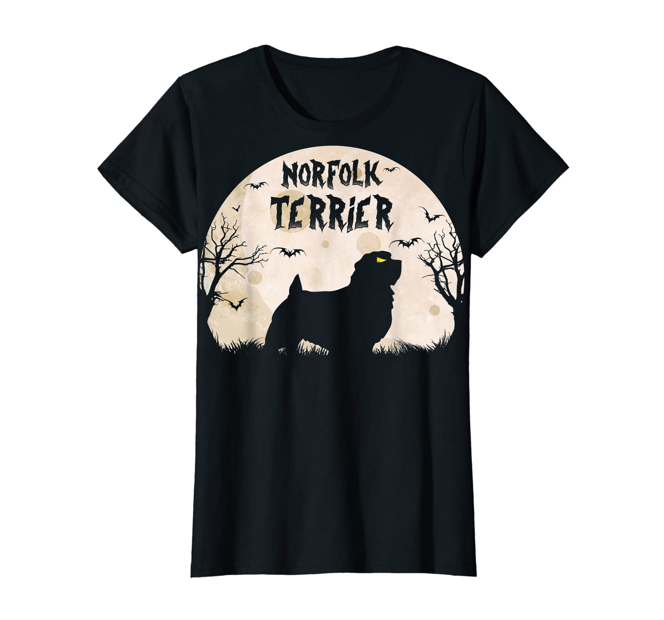 Halloween Horror Norfolk Terrier  T-Shirt-Women's T-Shirt-Black