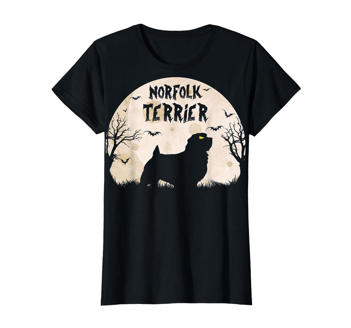 Halloween Horror Norfolk Terrier T-Shirt-Women's T-Shirt-Black