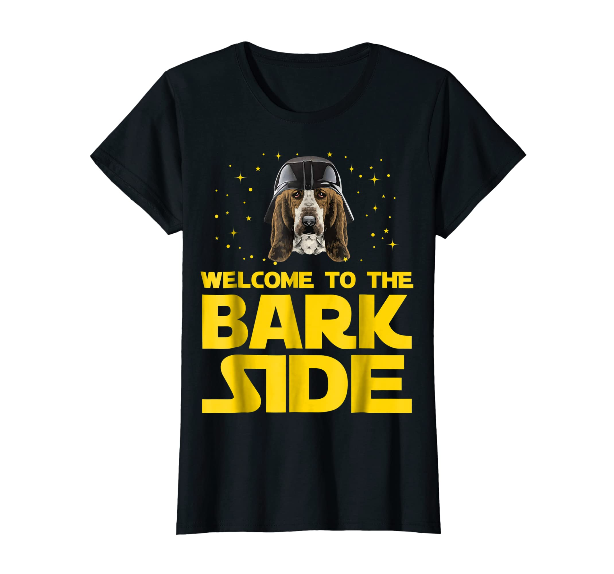 Welcome to the Bark Side of Basset Hound Funny T shirt Gifts-Women's T-Shirt-Black
