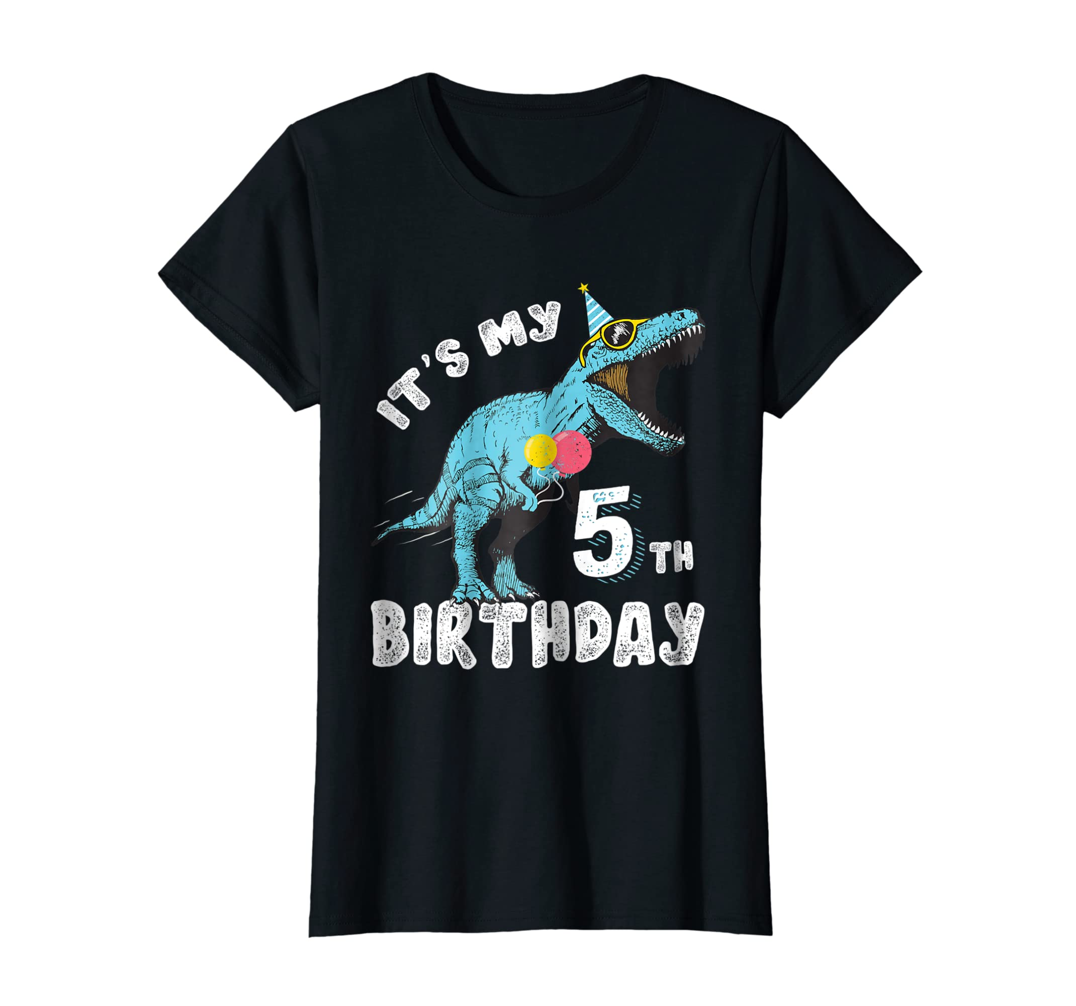 Amazon Its My 5th Birthday Dinosaur Party Shirt For Boy Age 5 Clothing
