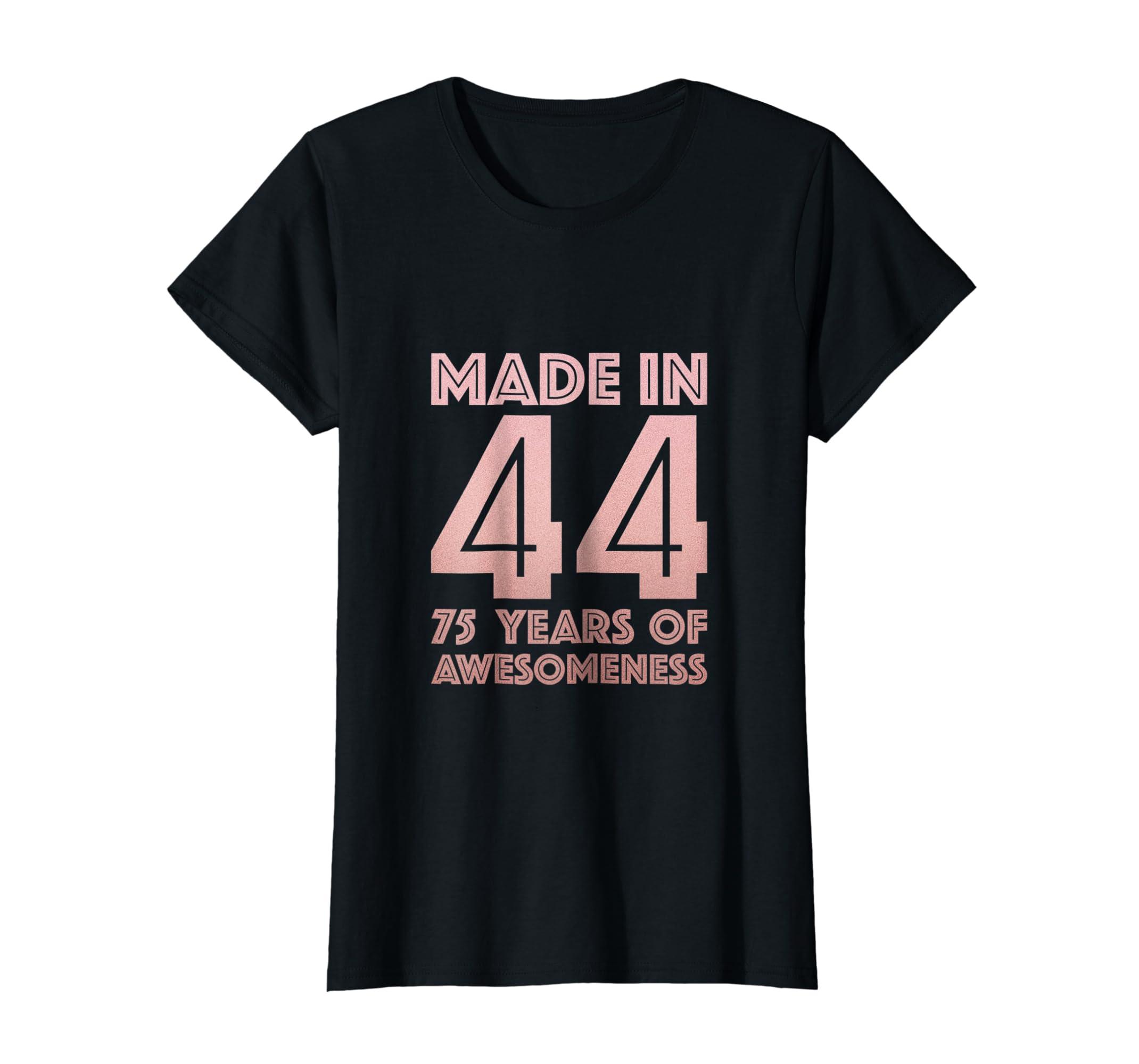 Amazon 75th Birthday Shirt For Grandma Mom 75 Year Old Women Gifts Clothing