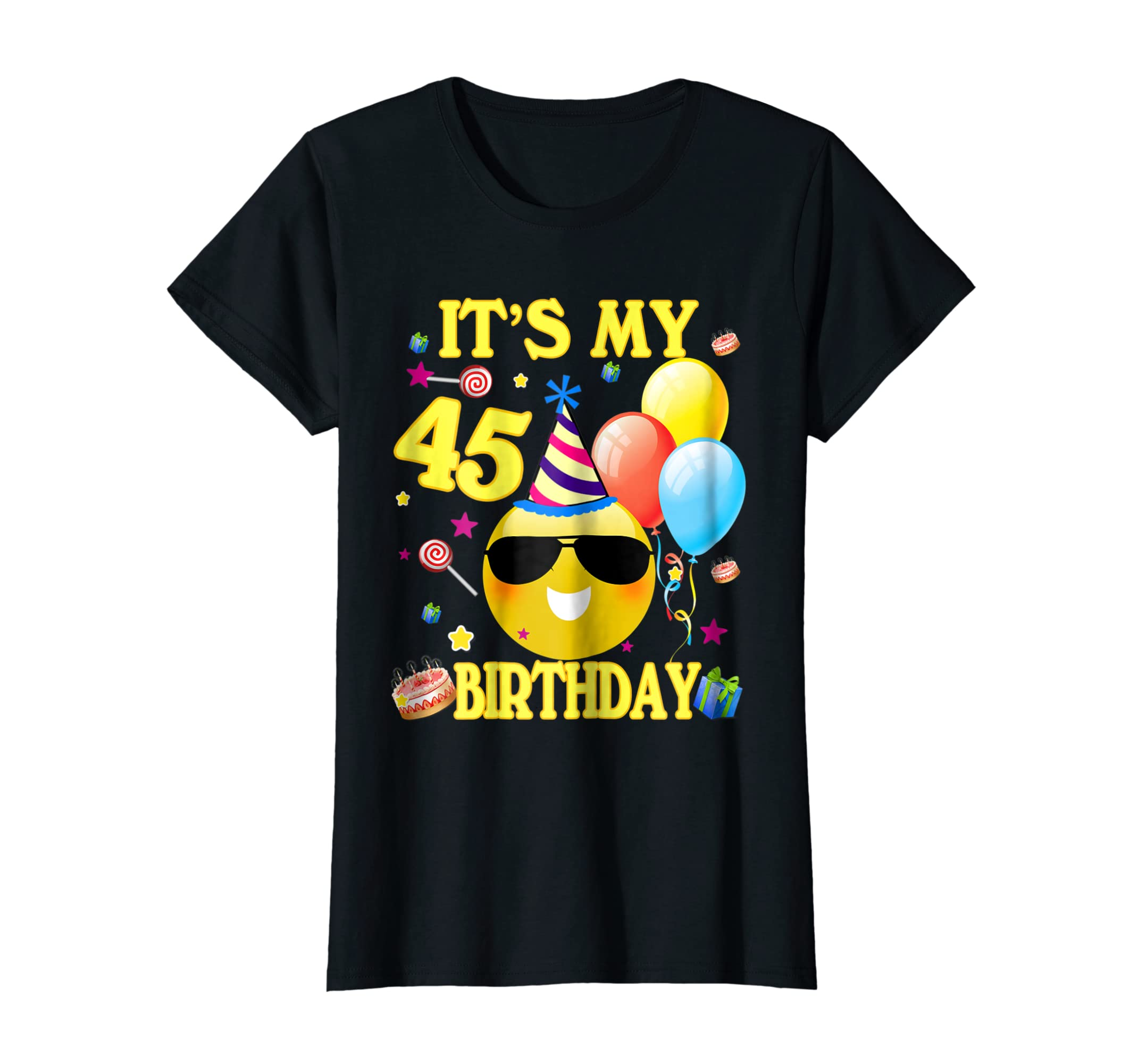 Amazon Its My 45th Birthday Shirt 45 Years Old Gift Clothing