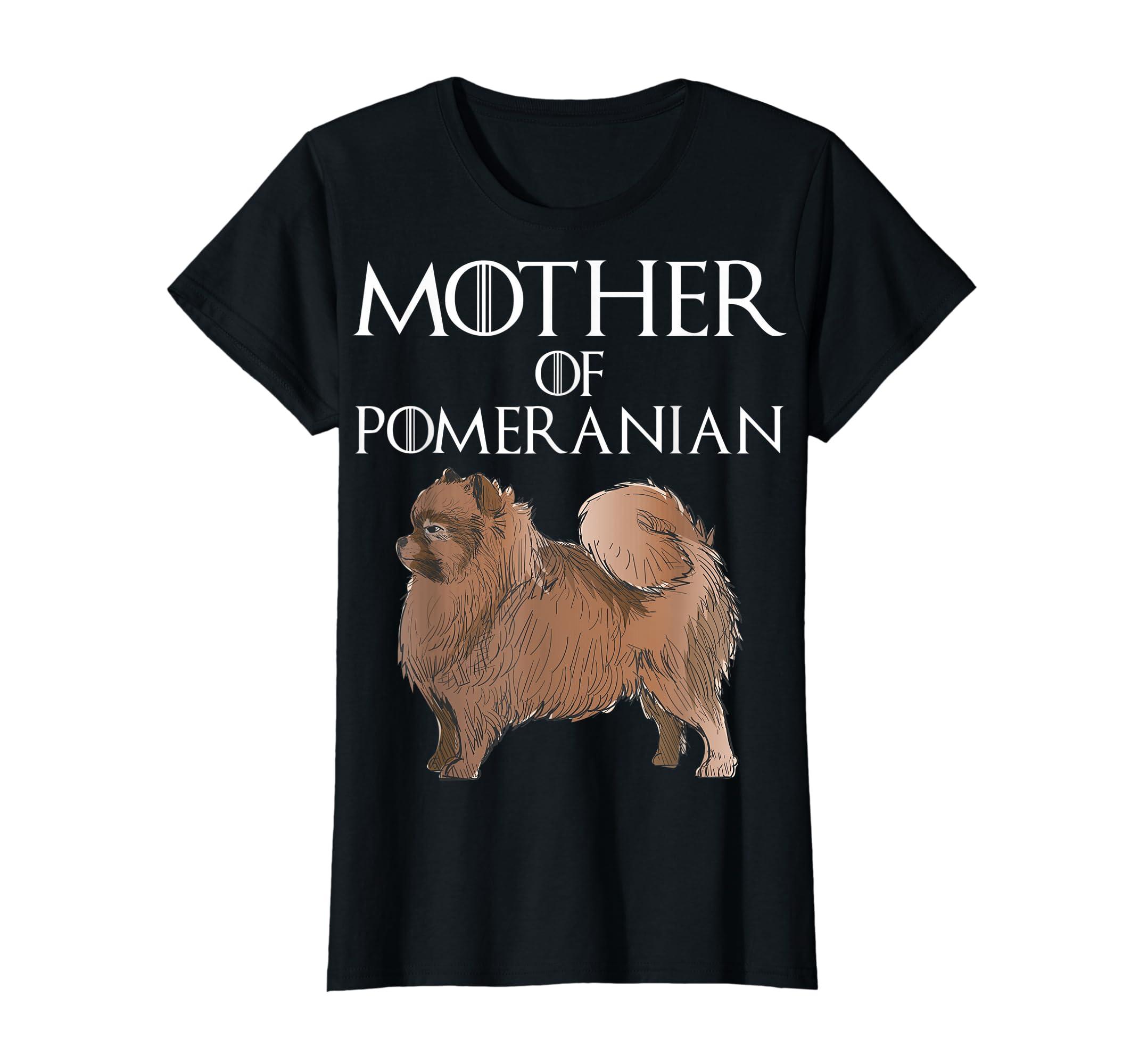 Cute & Unique White Mother Of Pomeranian T-shirt-Women's T-Shirt-Black