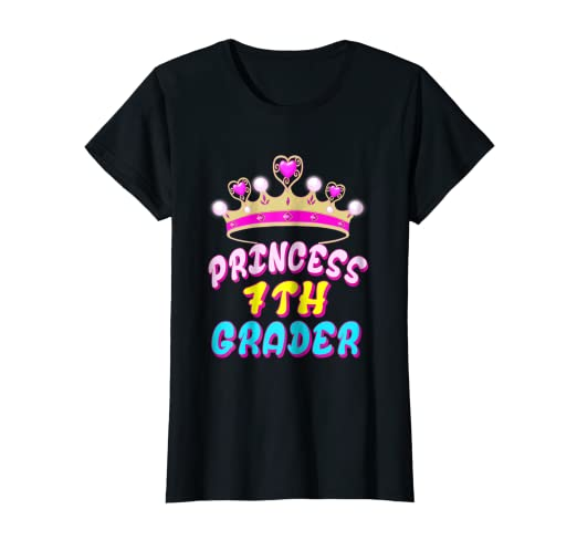 Amazon Com Princess Seventh Grader 7th Grade Tshirt Back To School