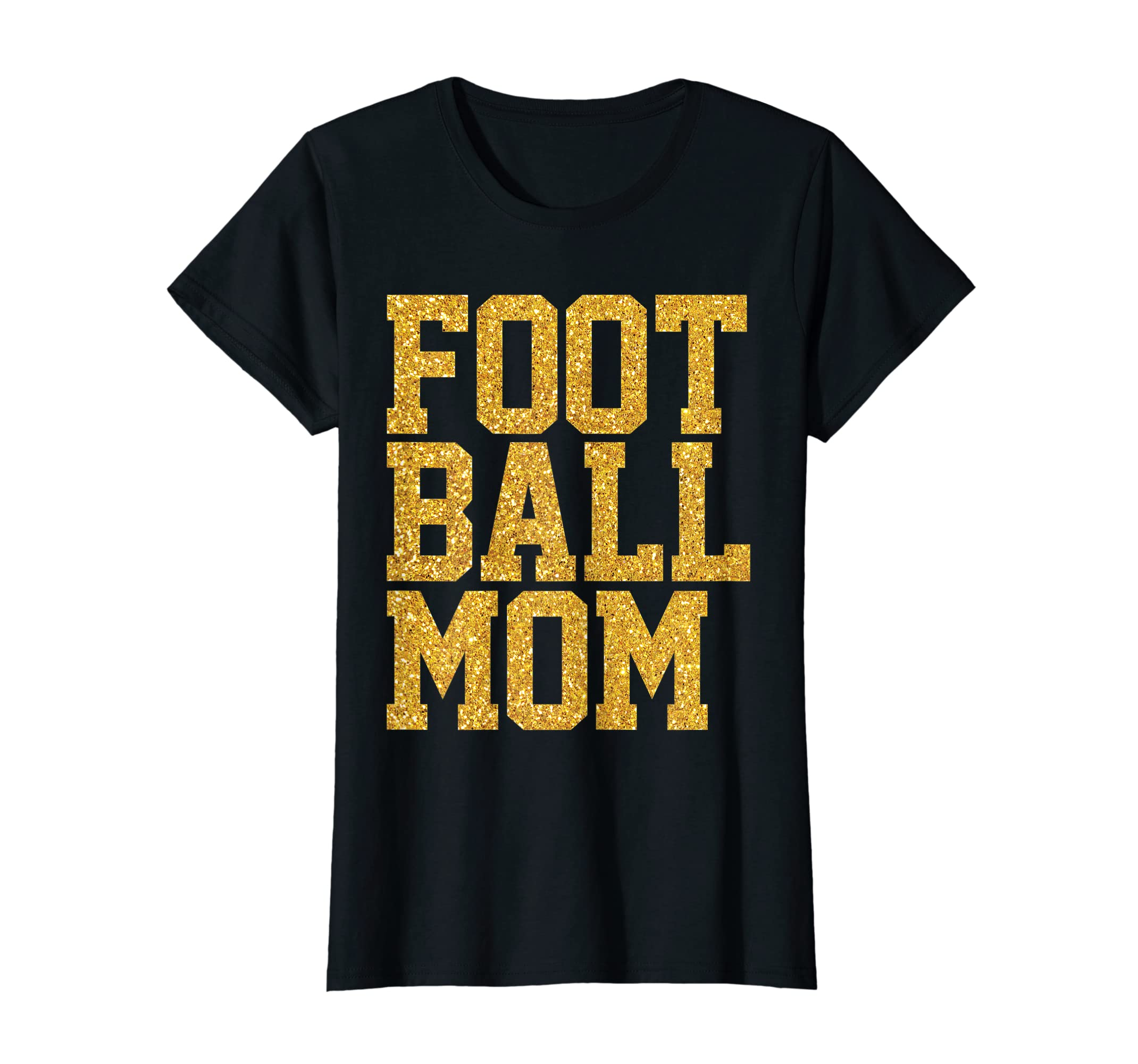 Amazon.com  Womens Football Shirt For Mom Faux Gold Sequins  Clothing 2bf871ac1