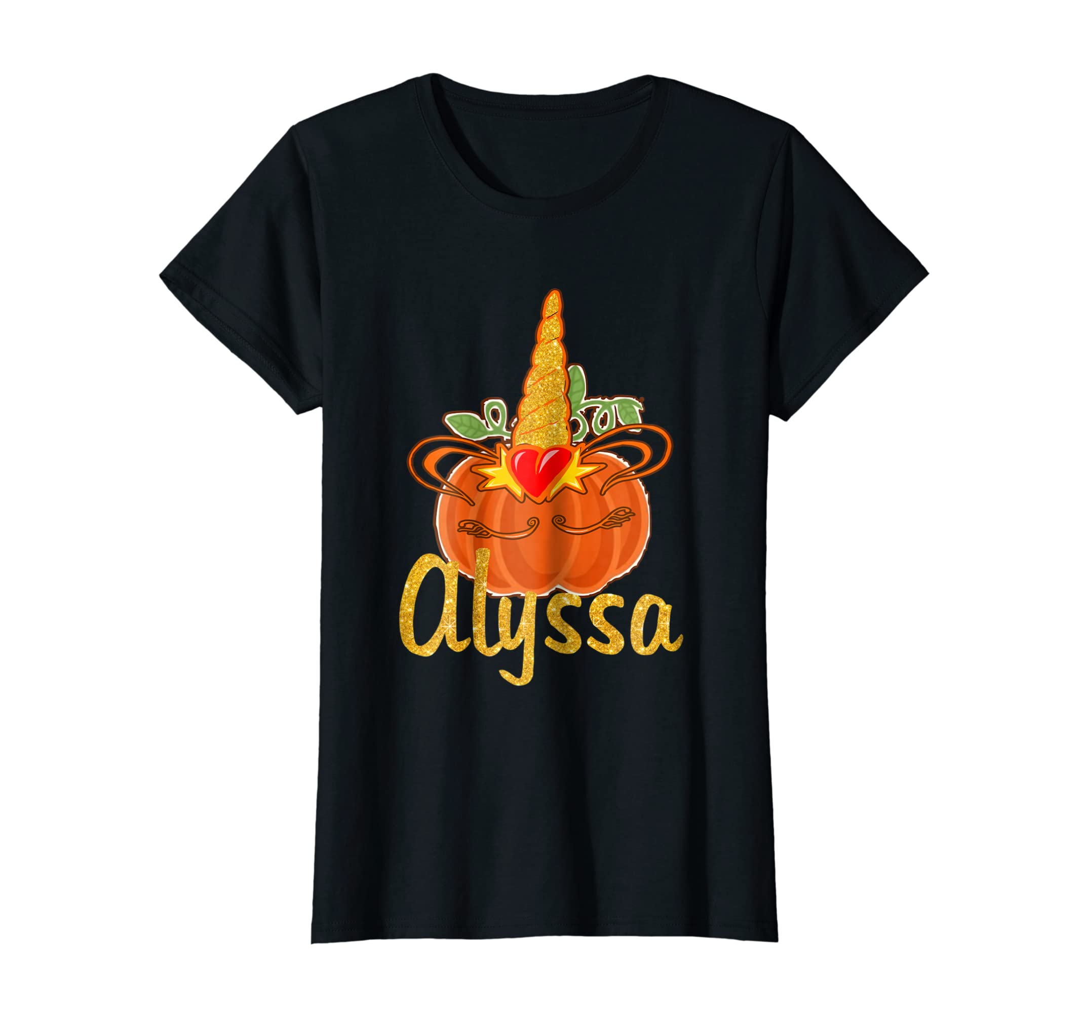Amazon.com: Halloween Birthday Unicorn Pumpkin T Shirt Gift for Alyssa: Clothing