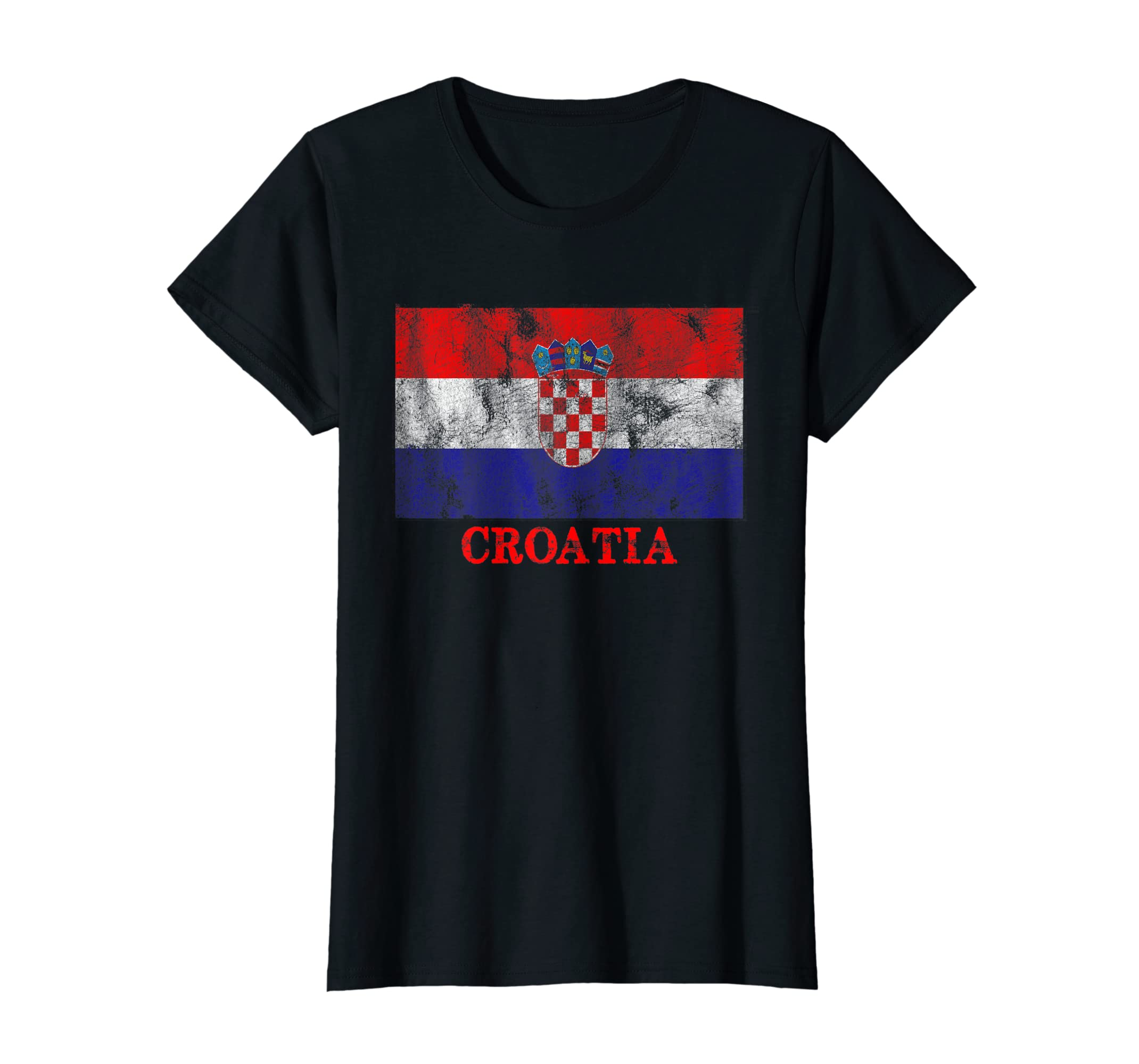 Amazon.com  Croatia Flag T-Shirt Distressed Croatia Soccer Jersey  Clothing 899b5bca97