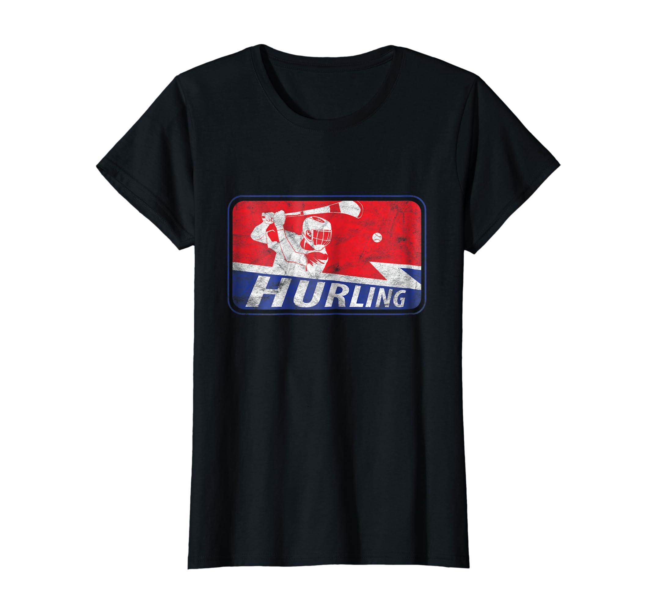 02d0daae406c5 Amazon.com: Hurling Player Irish Sliotar Hurley Logo & T Shirt Design:  Clothing