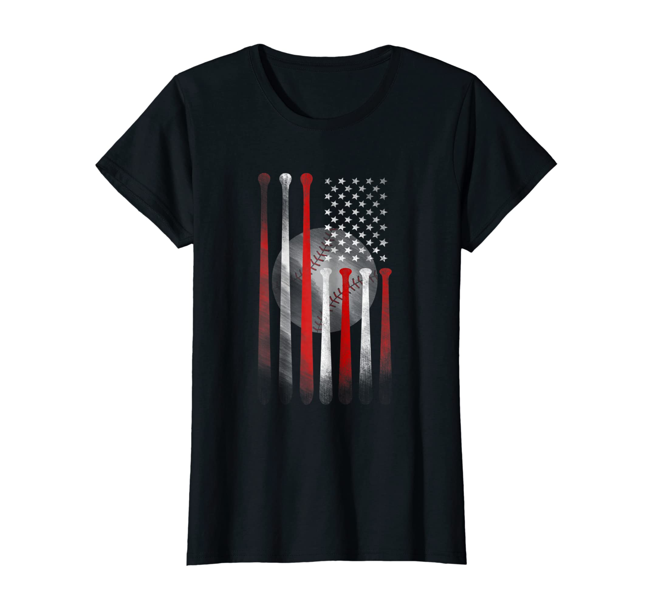 American Flag Vintage Baseball Flag T-Shirt, Dad, Mom Tee-Yolotee