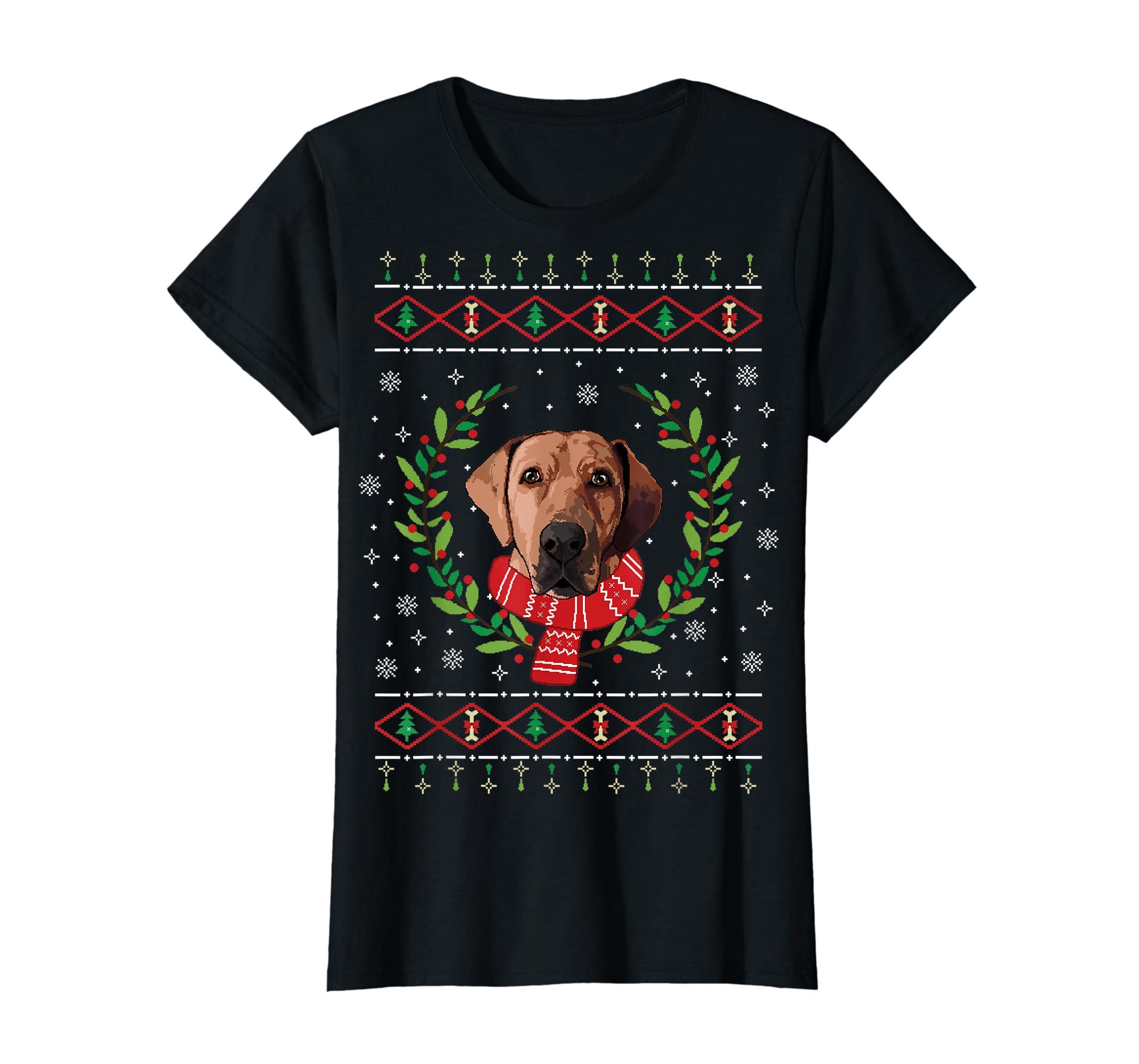 Broholmer Ugly Christmas Jumper T-Shirt Gift T-Shirt-Women's T-Shirt-Black