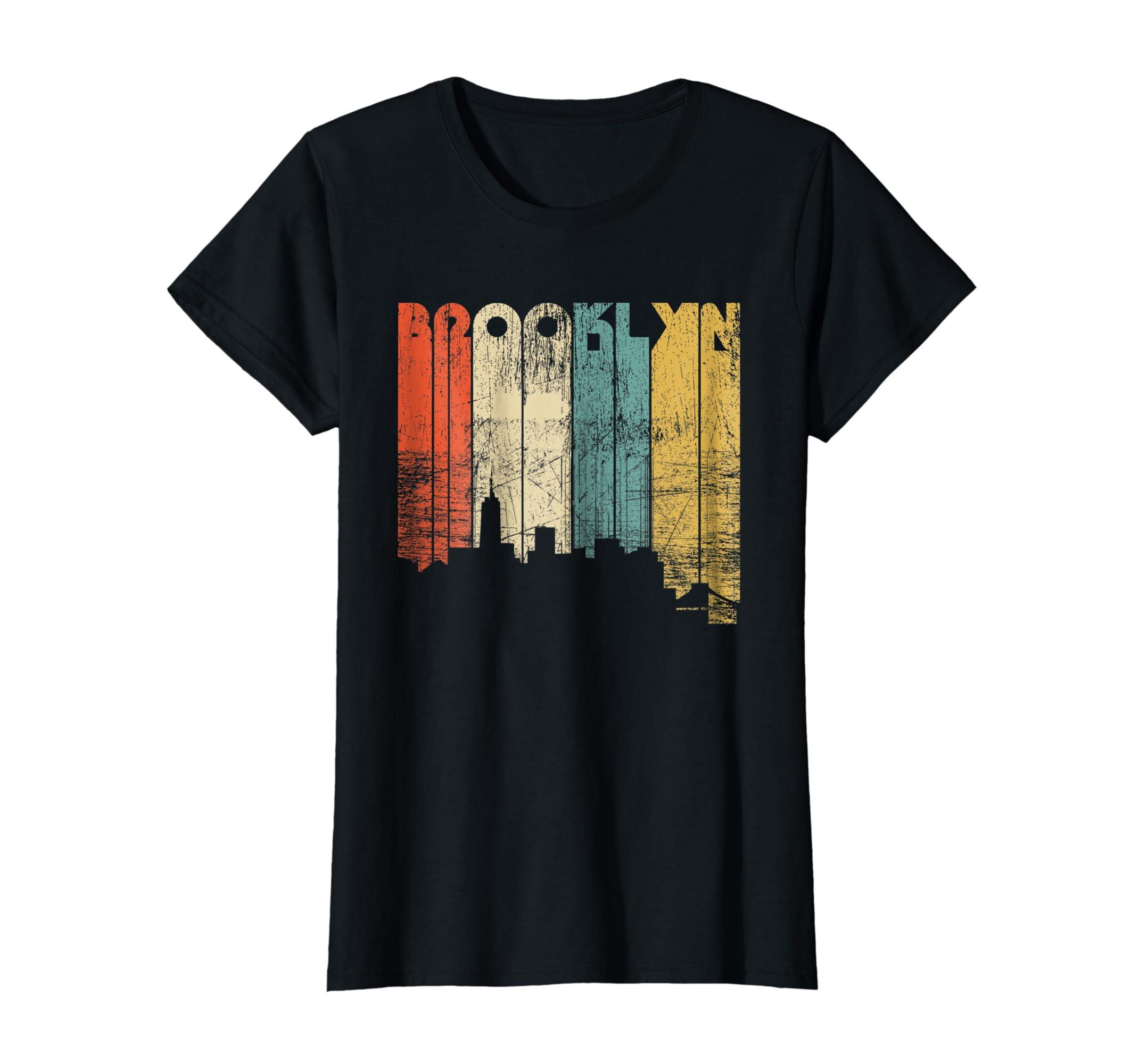 Amazon.com  Brooklyn City New York State Vintage T-Shirt 2b25da0824d