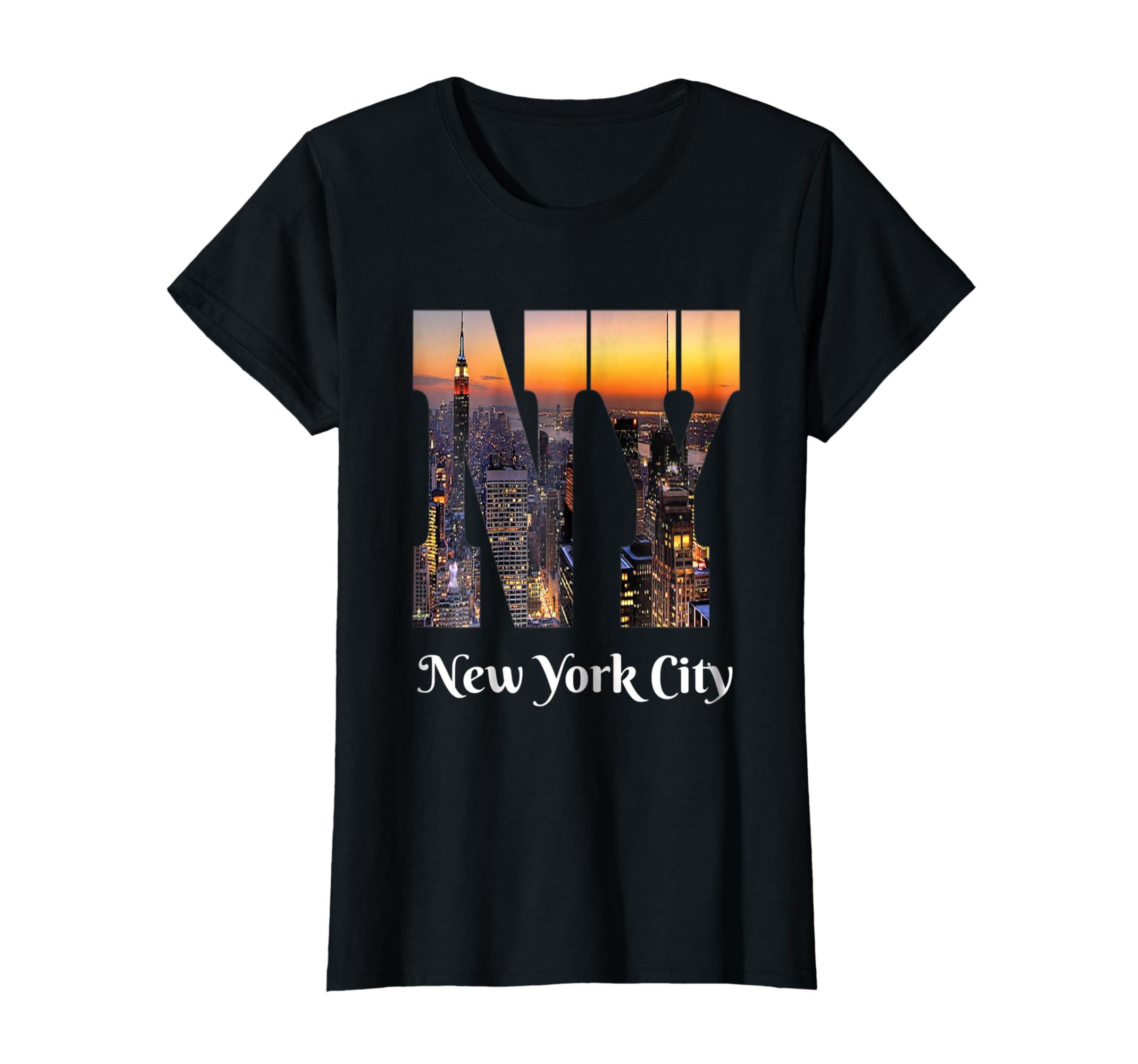 New York City Iconic Skyline T shirt-Bawle