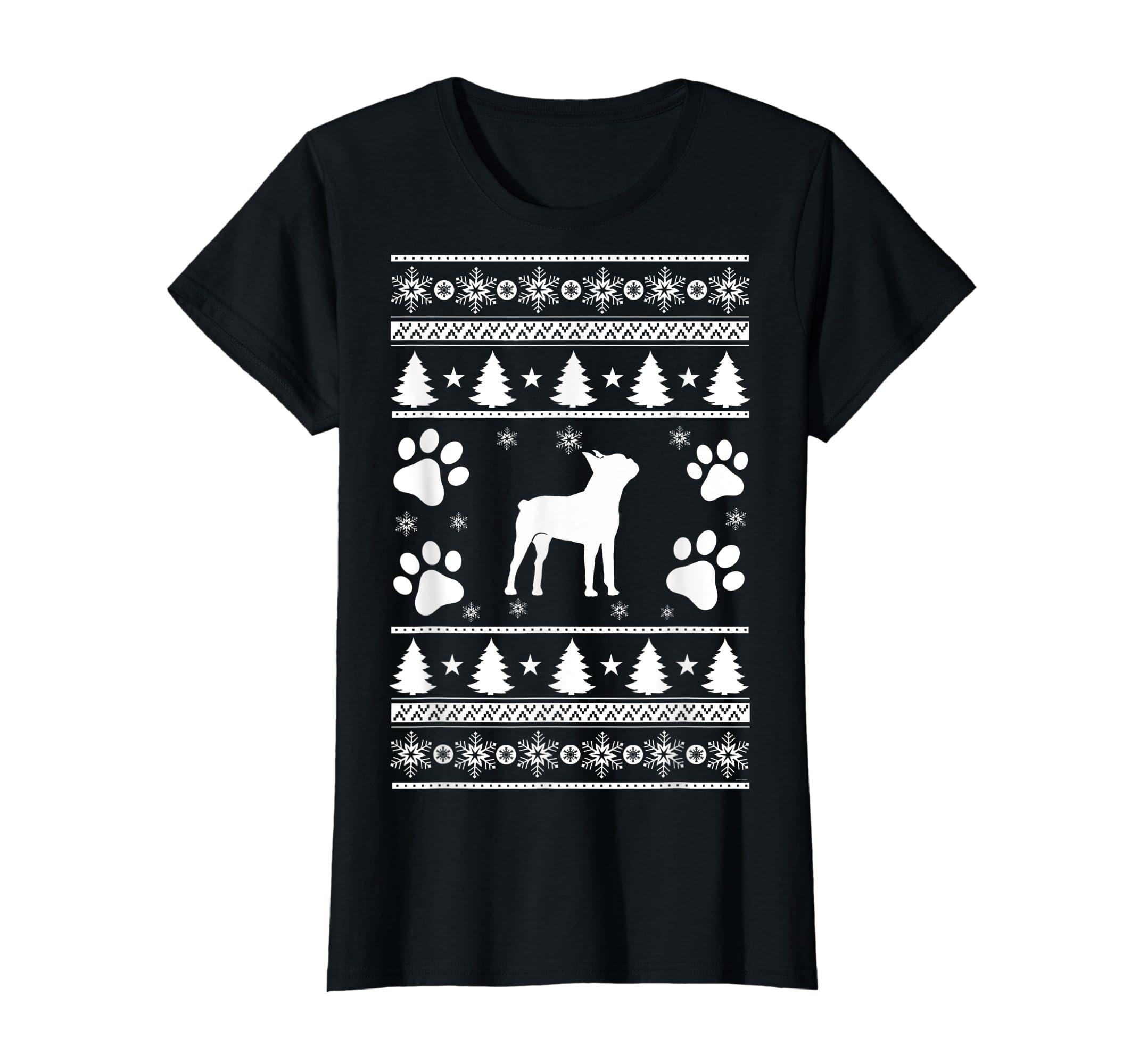 Boston Terrier lovers ugly christmas gift T-Shirt-Women's T-Shirt-Black