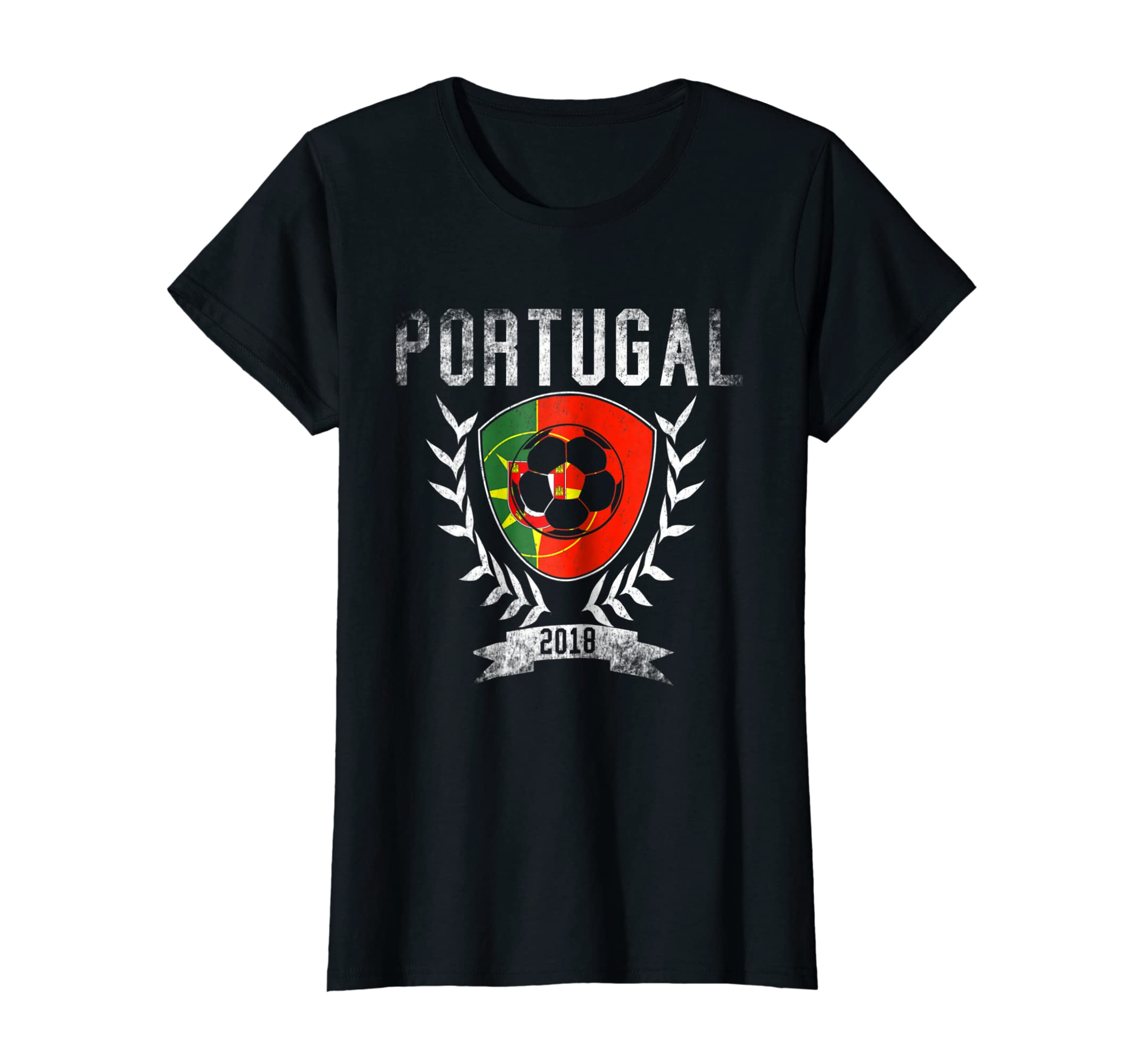 54e33ce8bd7c5 Amazon.com  Portuguese Football Cup 2018 T-Shirt - Portugal Soccer Tee   Clothing