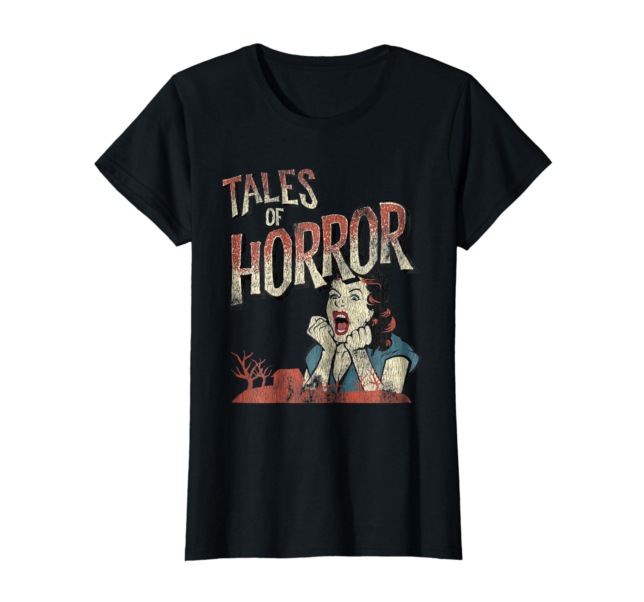 66348e47a9 Amazon.com: Vintage Horror Movie Poster Shirt Funny Halloween Shirt:  Clothing