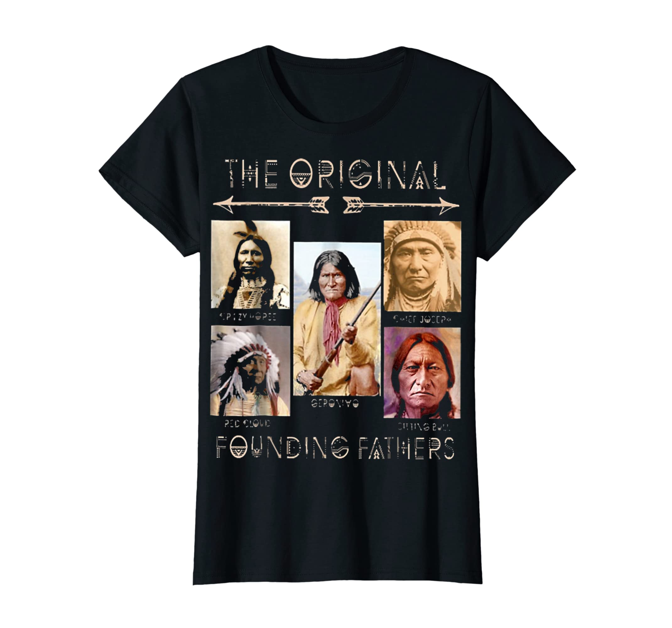 the original founding fathers native classic shirt-Women's T-Shirt-Black